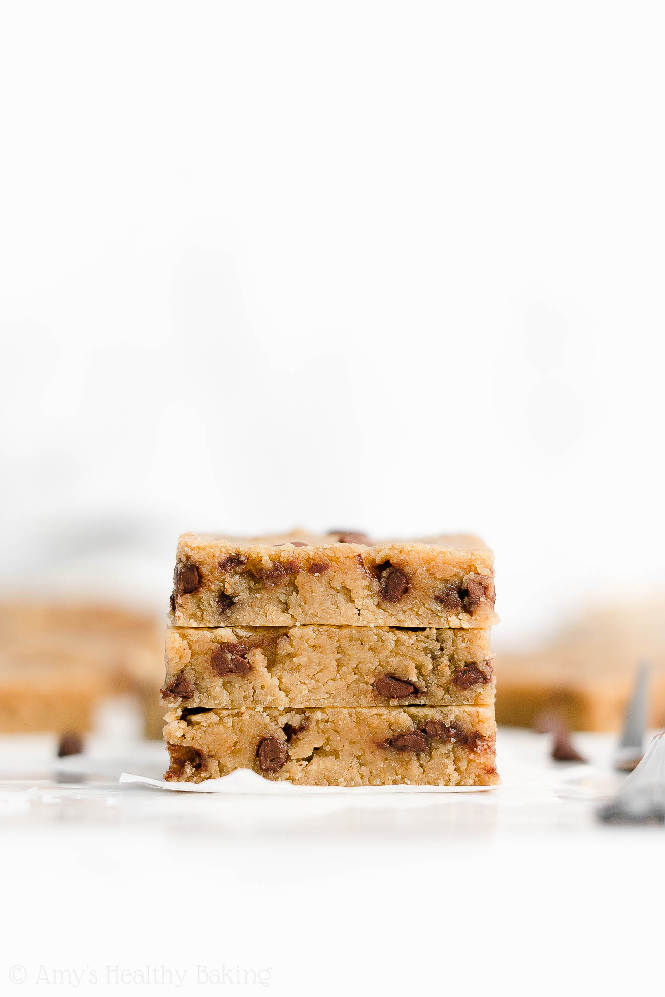 Healthy Gluten Free Vegan Chewy Flourless Chocolate Chip Peanut Butter Cookie Bars