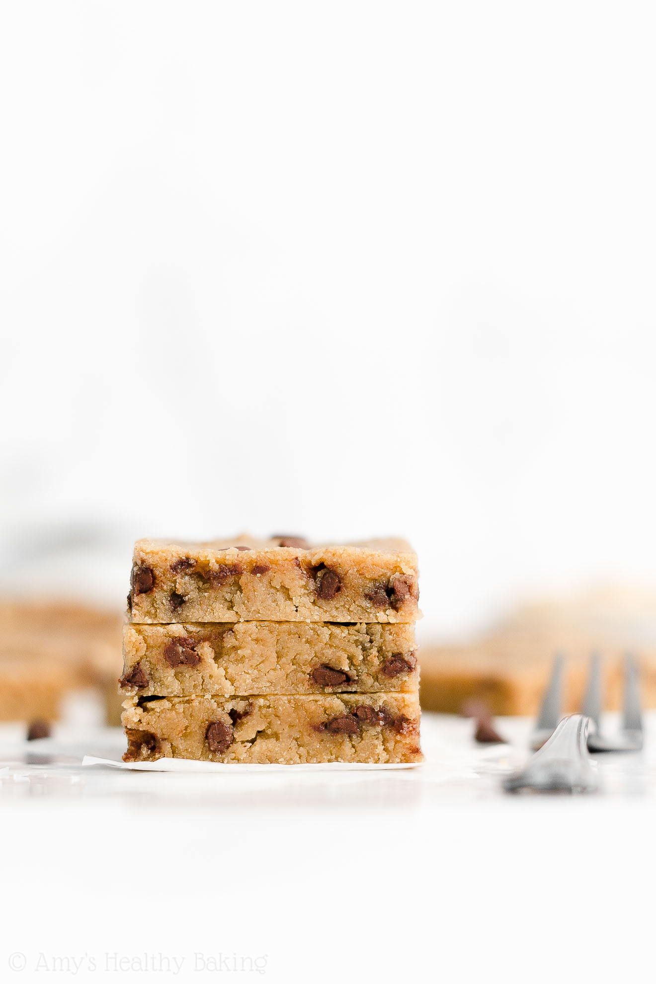 Healthy Vegan Gluten Free Flourless Chocolate Chip Peanut Butter Cookie Bars