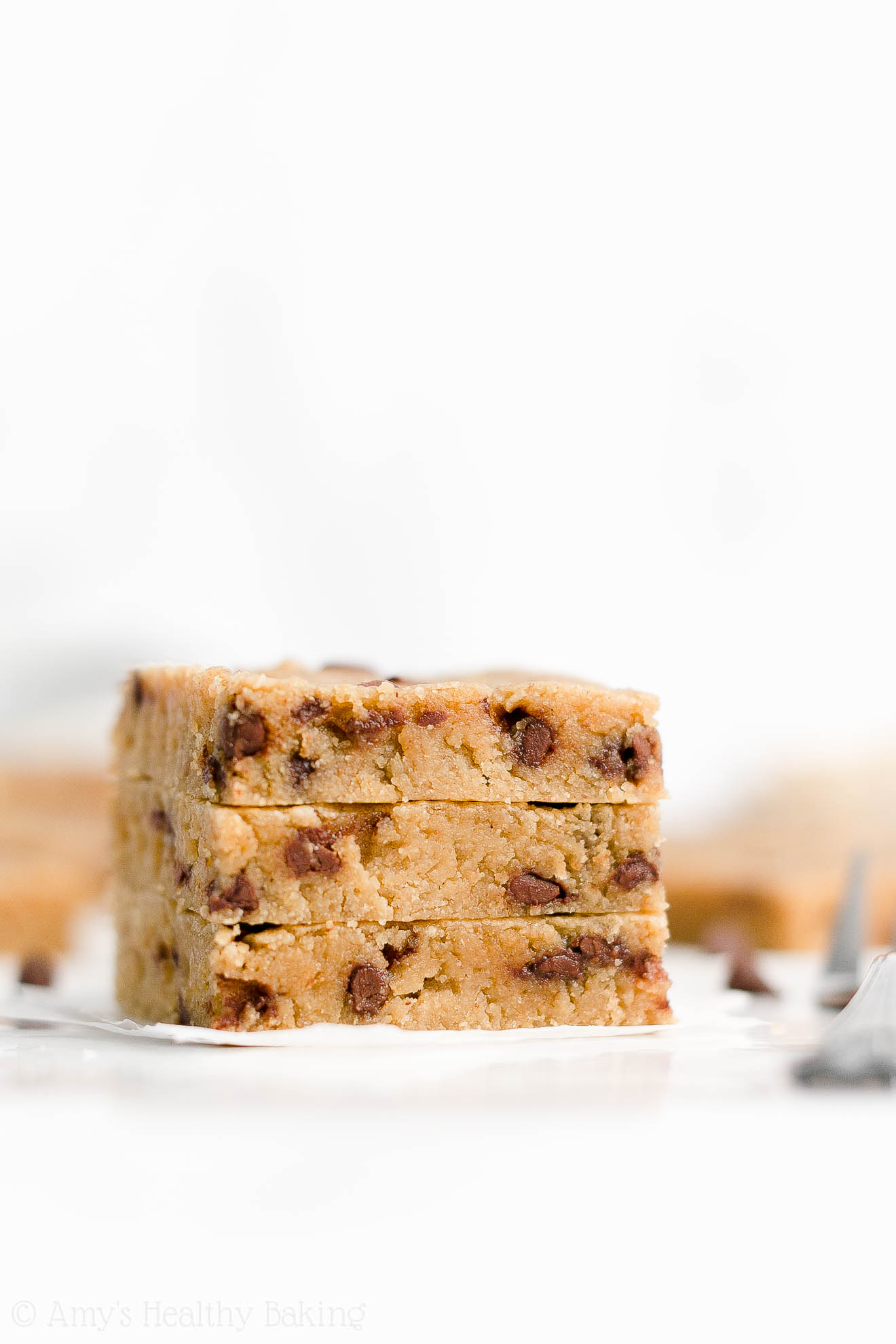 Healthy Eggless Low Sugar Flourless Chocolate Chip Peanut Butter Cookie Bars