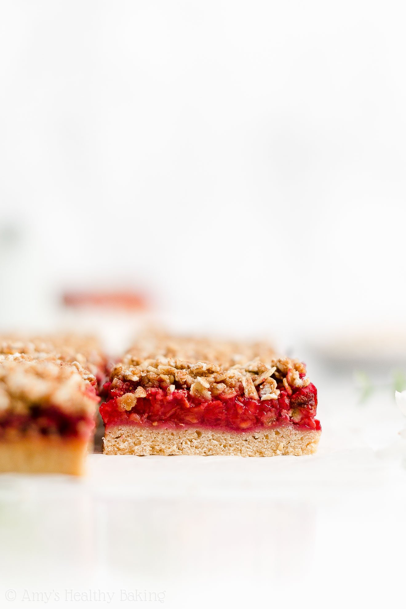 Best Easy Healthy Clean Eating Dairy Free Egg Free Raspberry Crumble Bars