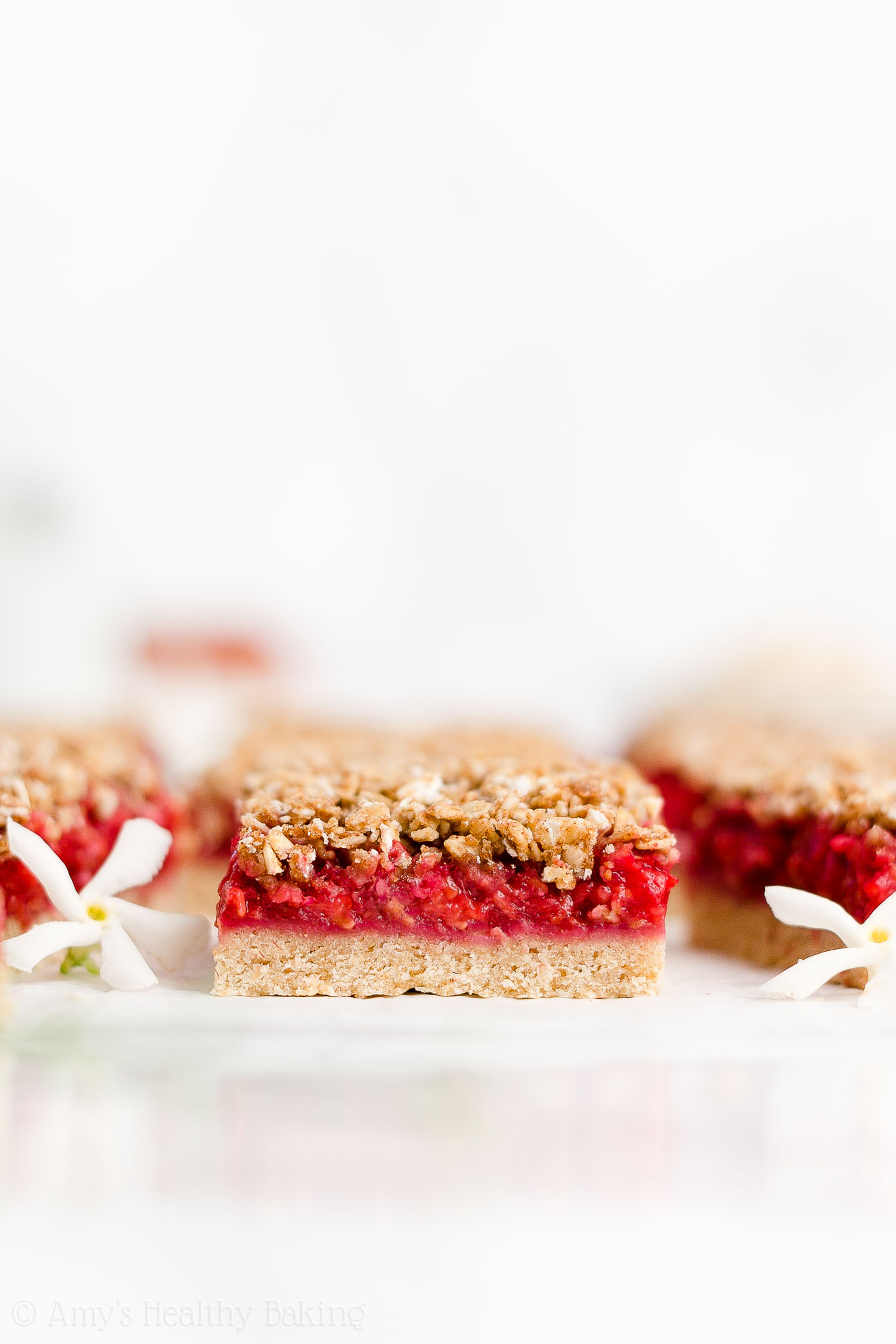 Best Easy Healthy Weight Watchers Low Calorie Fresh Raspberry Oat Crumble Bars