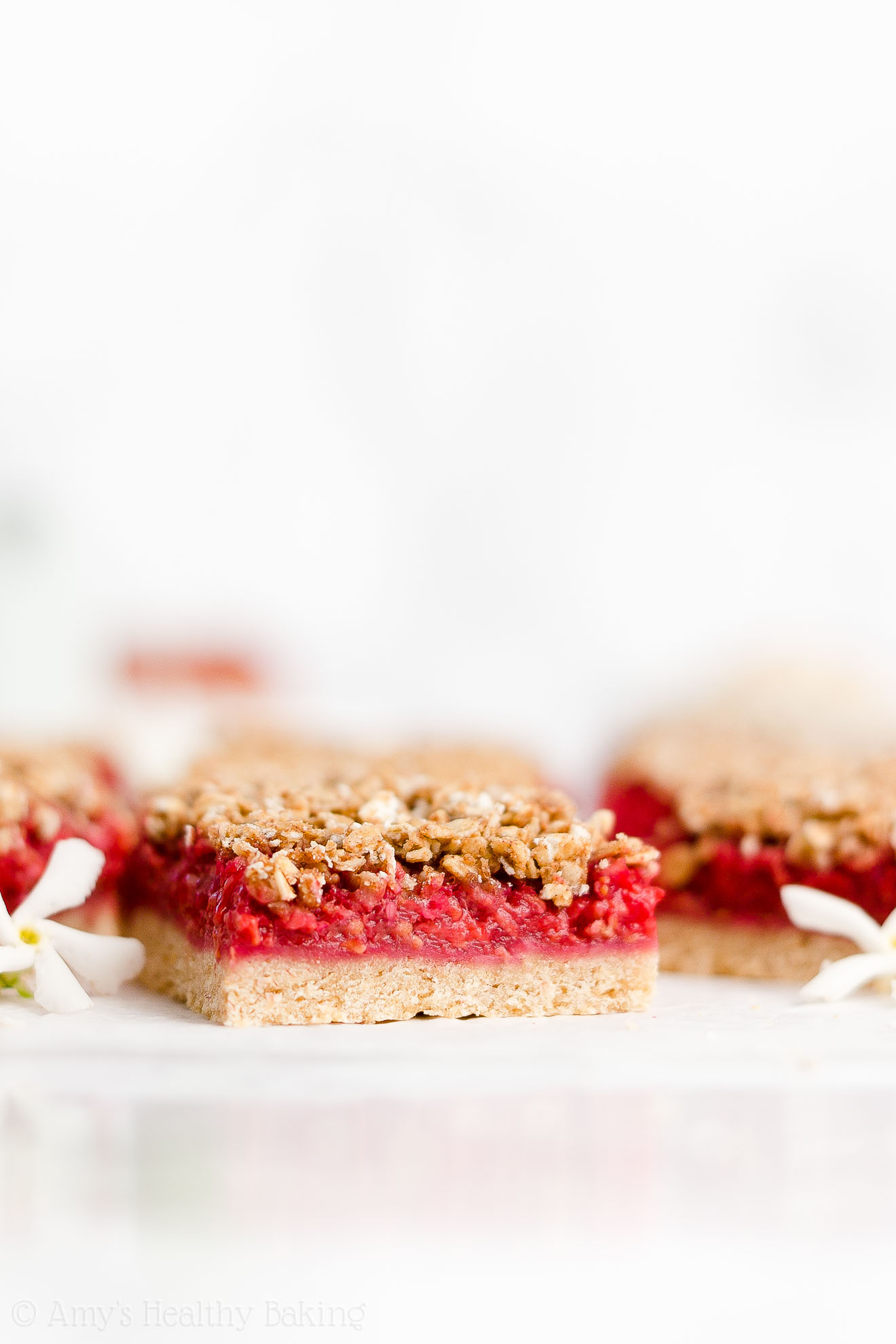 Easy Healthy Dairy Free Gluten Free Low Calorie Fresh Raspberry Crumble Bars
