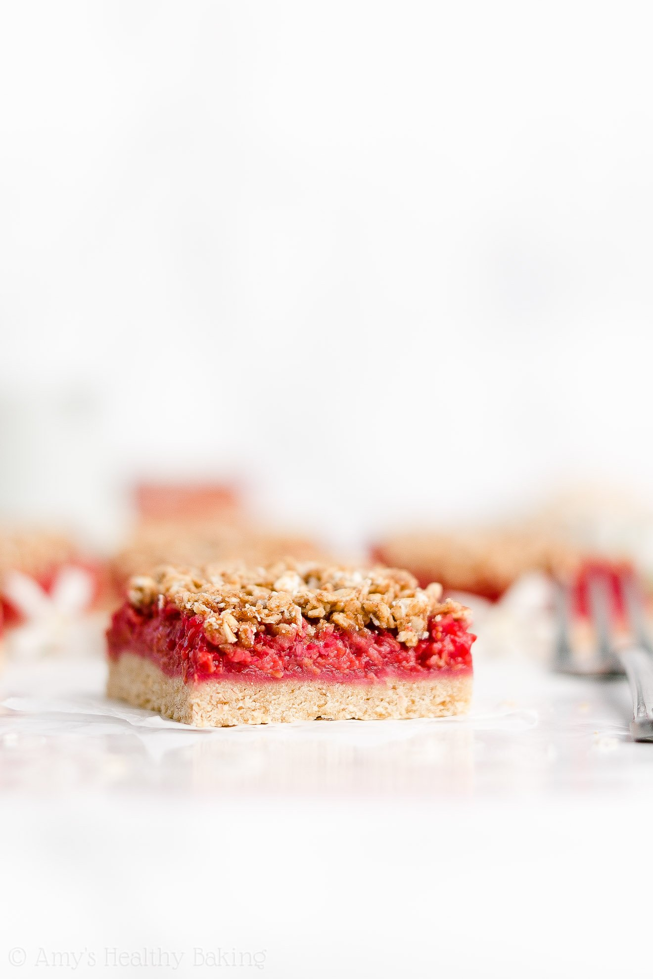 Easy Healthy Low Fat Gluten Free Egg Free Fresh Raspberry Oat Crumble Bars