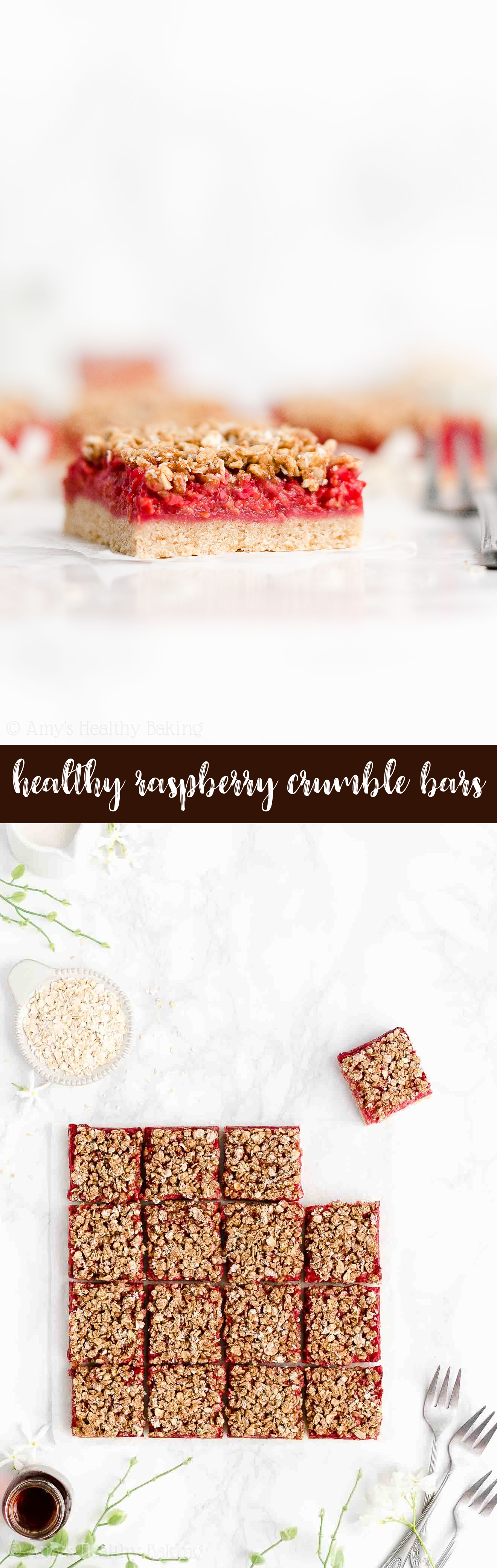 Best Ever Easy Healthy Gluten Free Vegan Fresh Raspberry Oat Crumble Bars