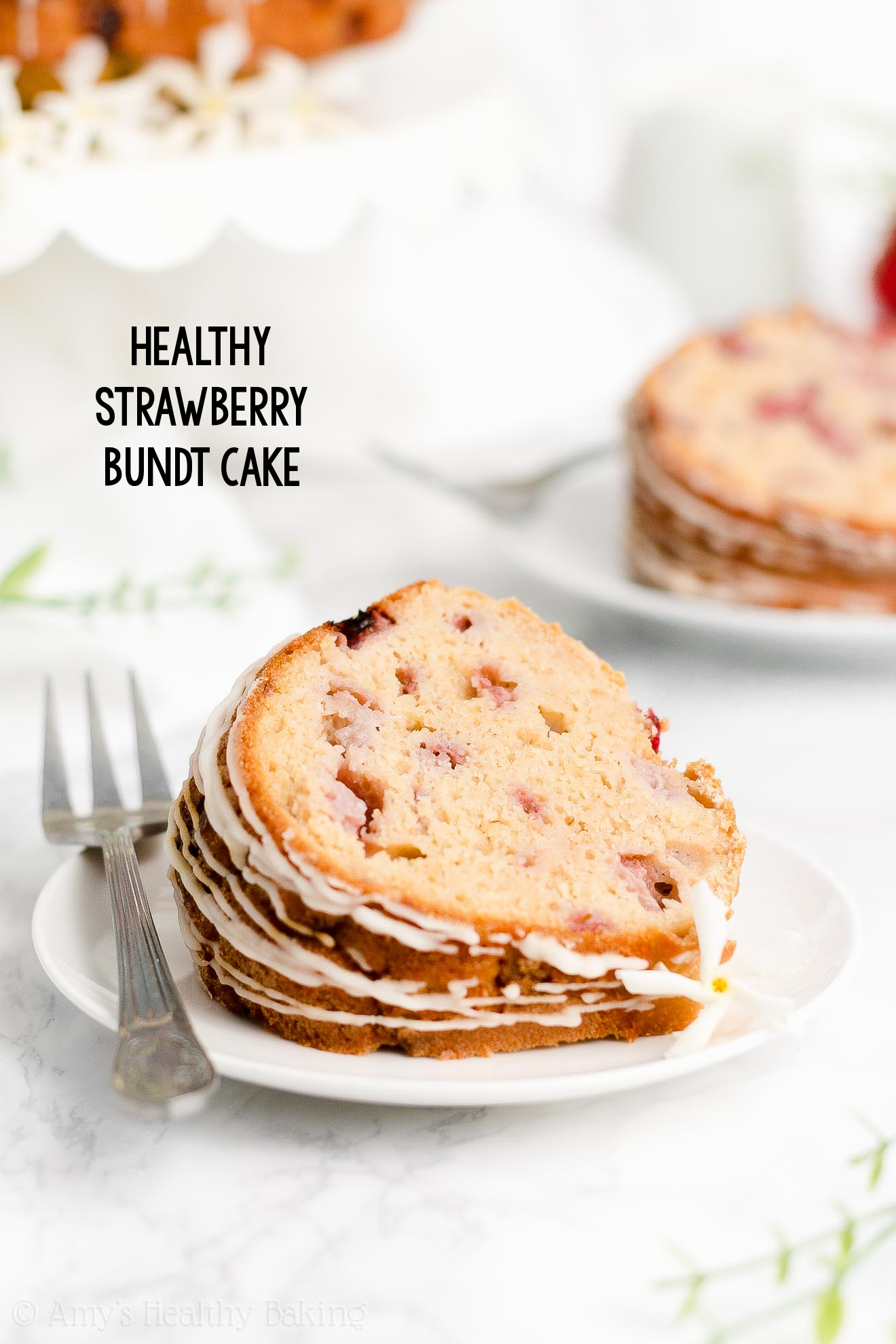 Best Easy Healthy Gluten Free Sugar Free Moist Fresh Strawberry Bundt Cake