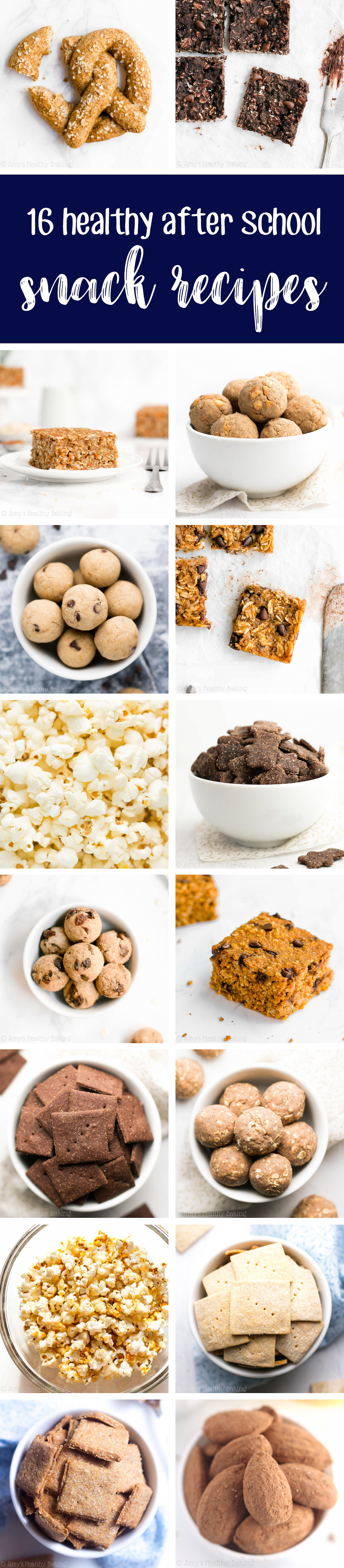 DIY Gluten Free, Low Calorie Healthy After School Snack Recipe Ideas For Kids