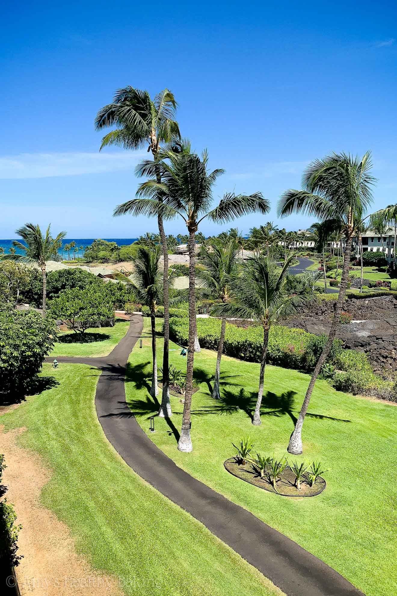 View of the ocean from a Marriott Waikoloa hotel room on the Big Island of Hawaii