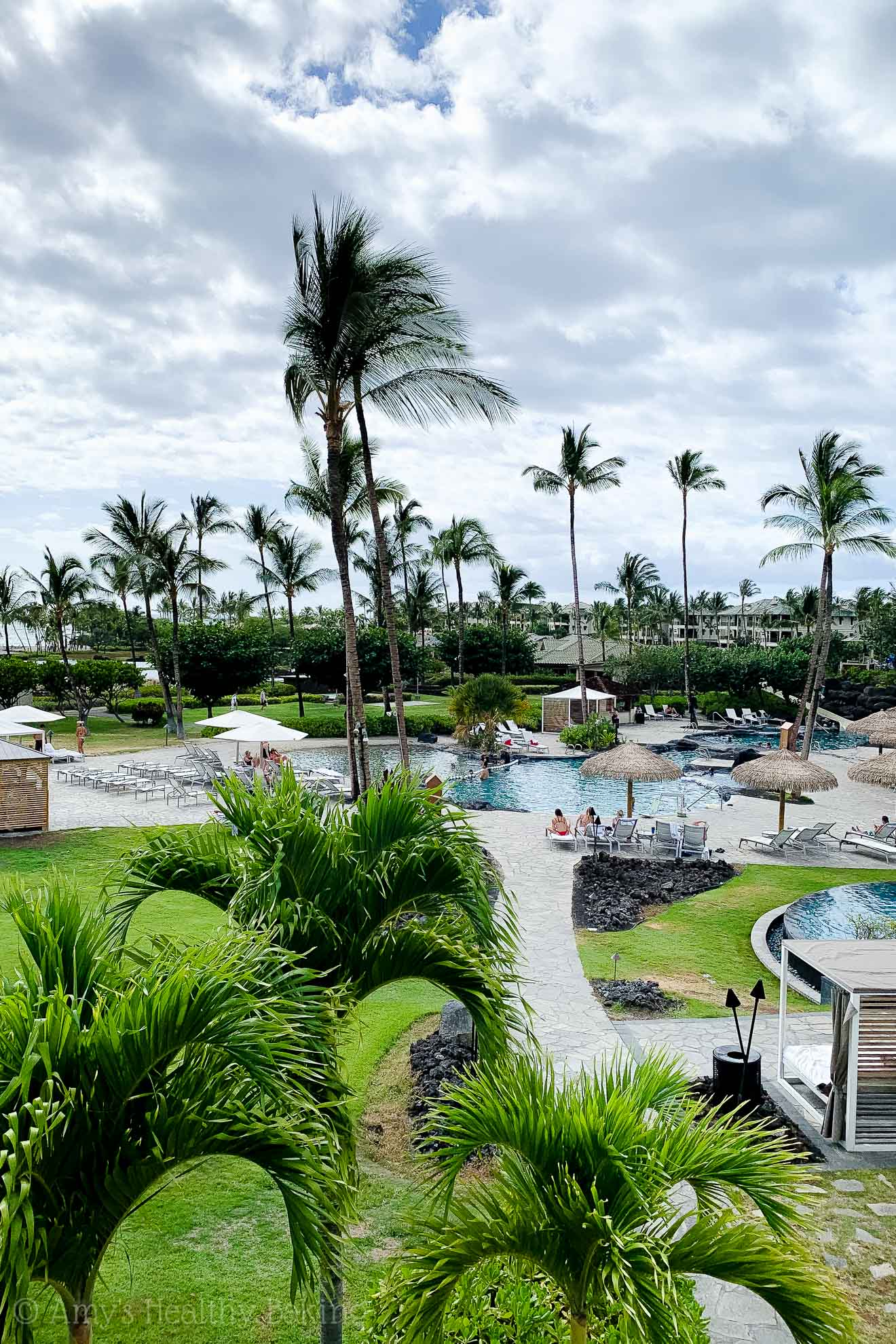 View of the Marriott Waikoloa pools on the Big Island of Hawaii