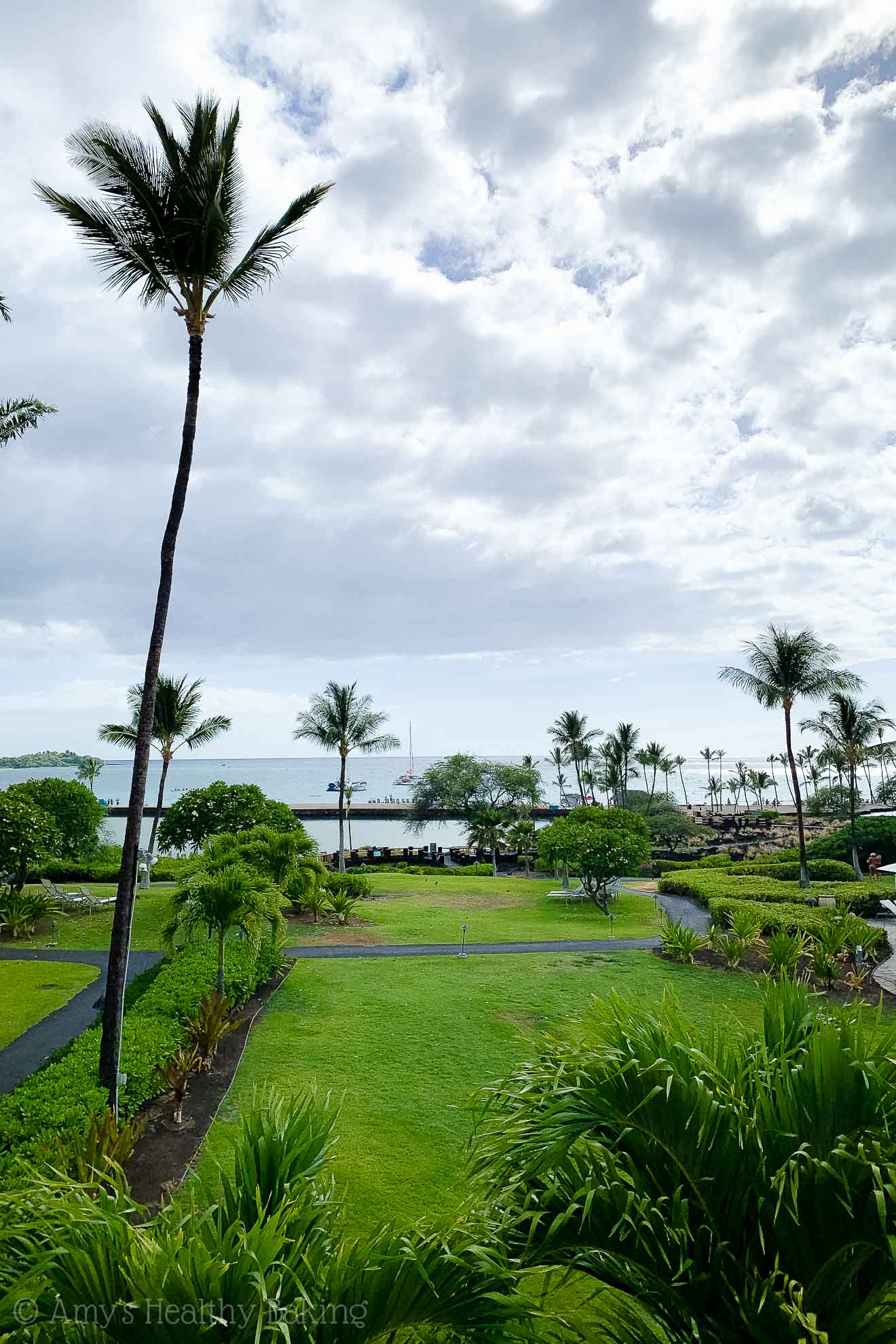 View from the Marriott Waikoloa lobby on the Big Island of Hawaii