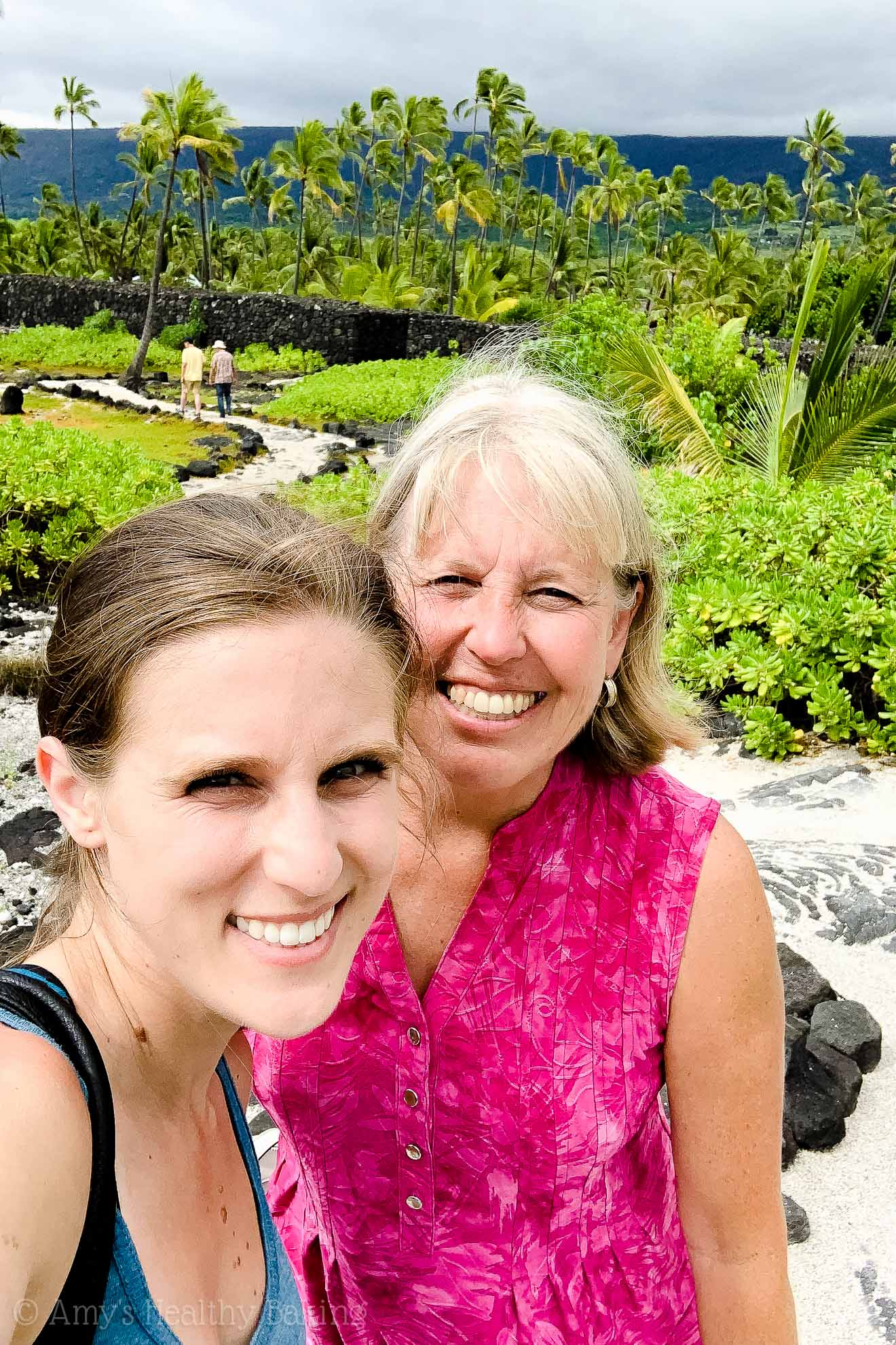 Amy Atherton, from Amy's Healthy Baking, on a Big Island of Hawaii vacation