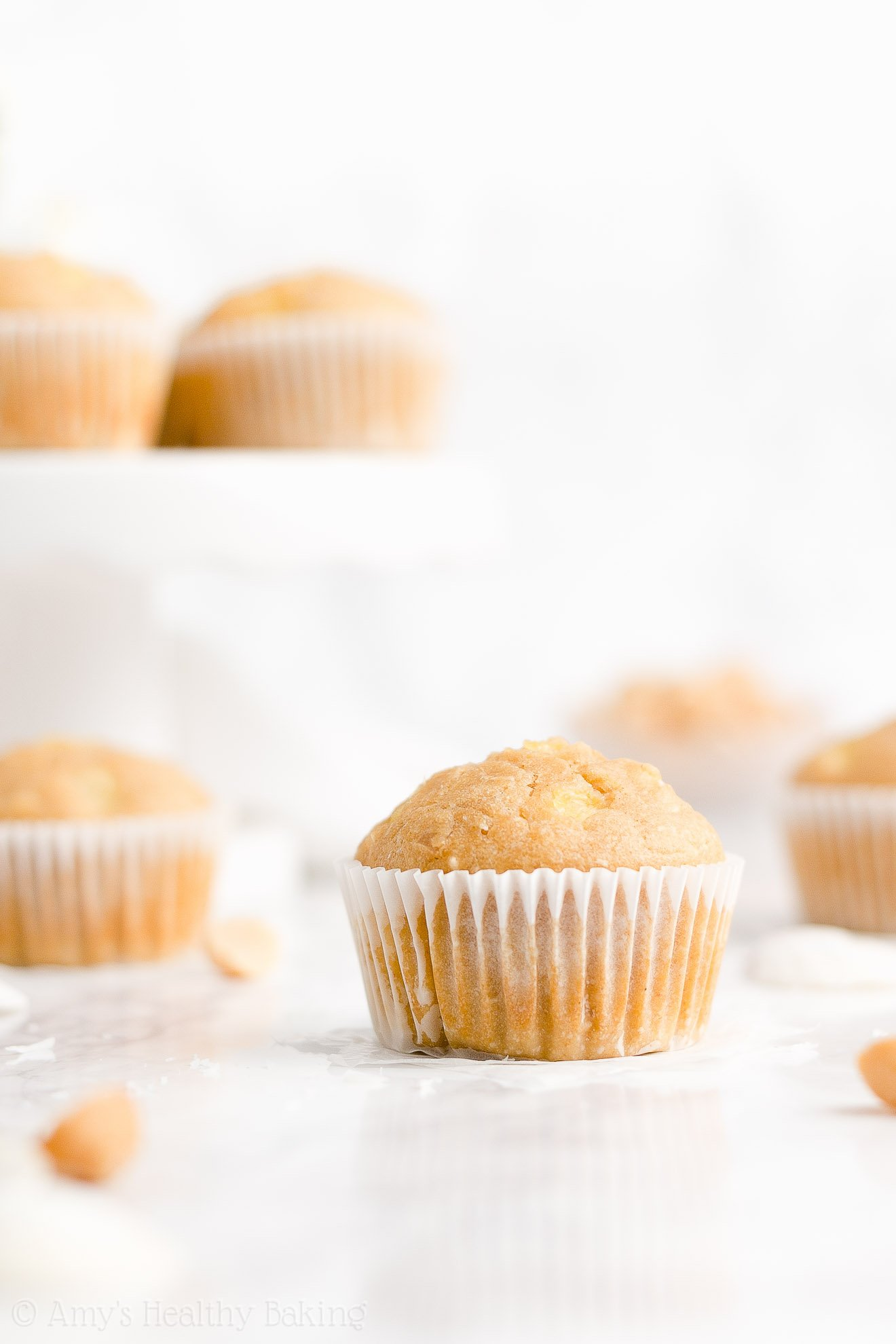 Easy Healthy Low Sugar Tropical Pineapple, Coconut & Macadamia Nut Muffins