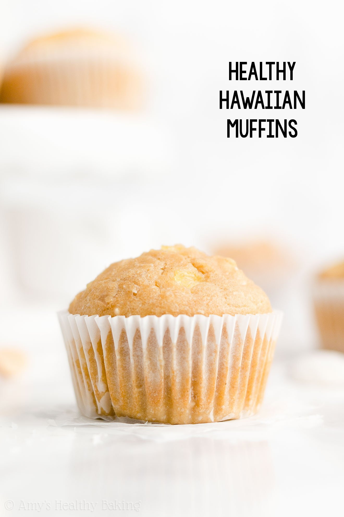 Best Healthy Greek Yogurt Tropical Pineapple, Coconut & Macadamia Nut Muffins