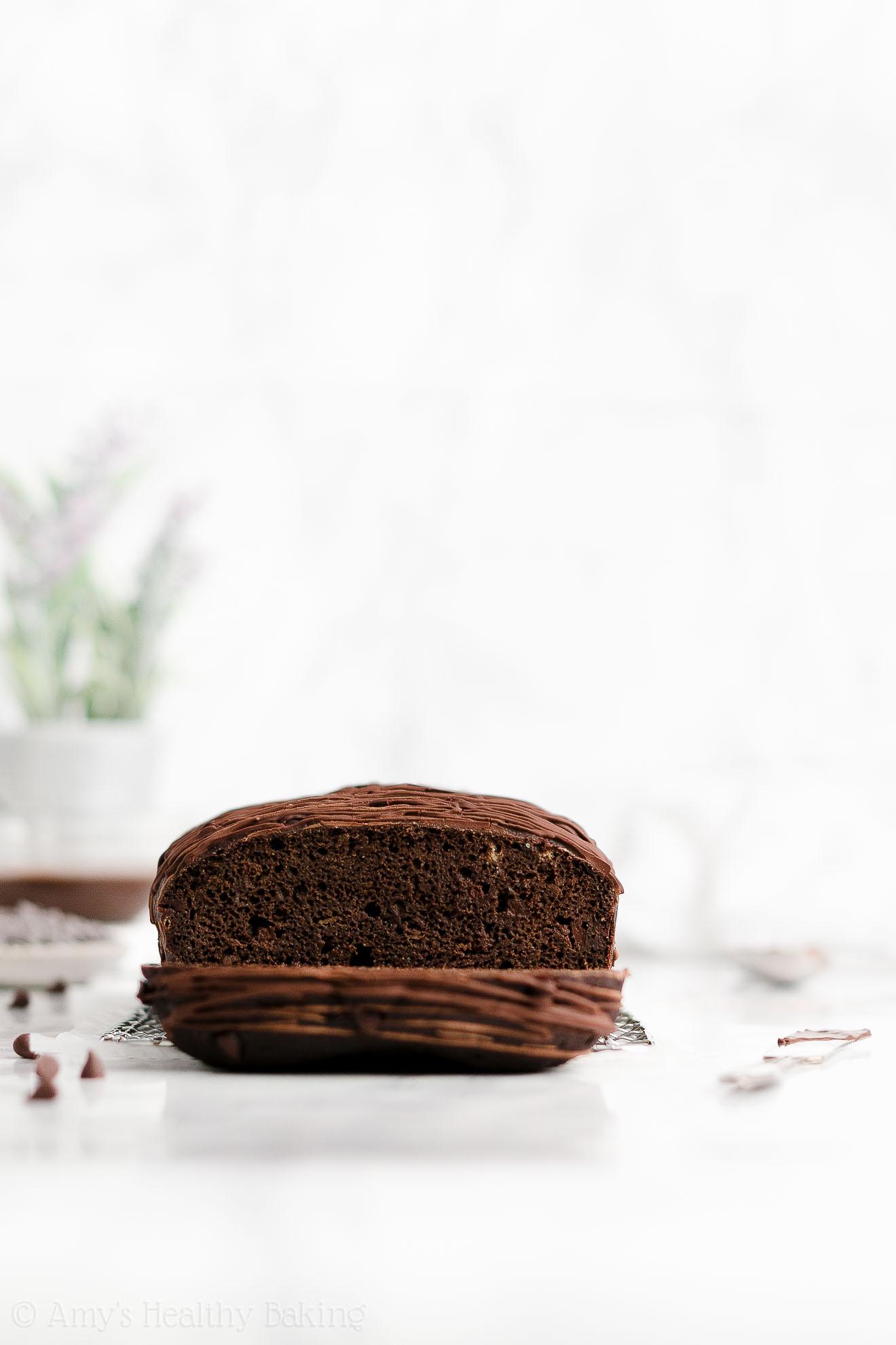 BEST EVER Easy Healthy Gluten Free Moist Triple Chocolate Banana Bread