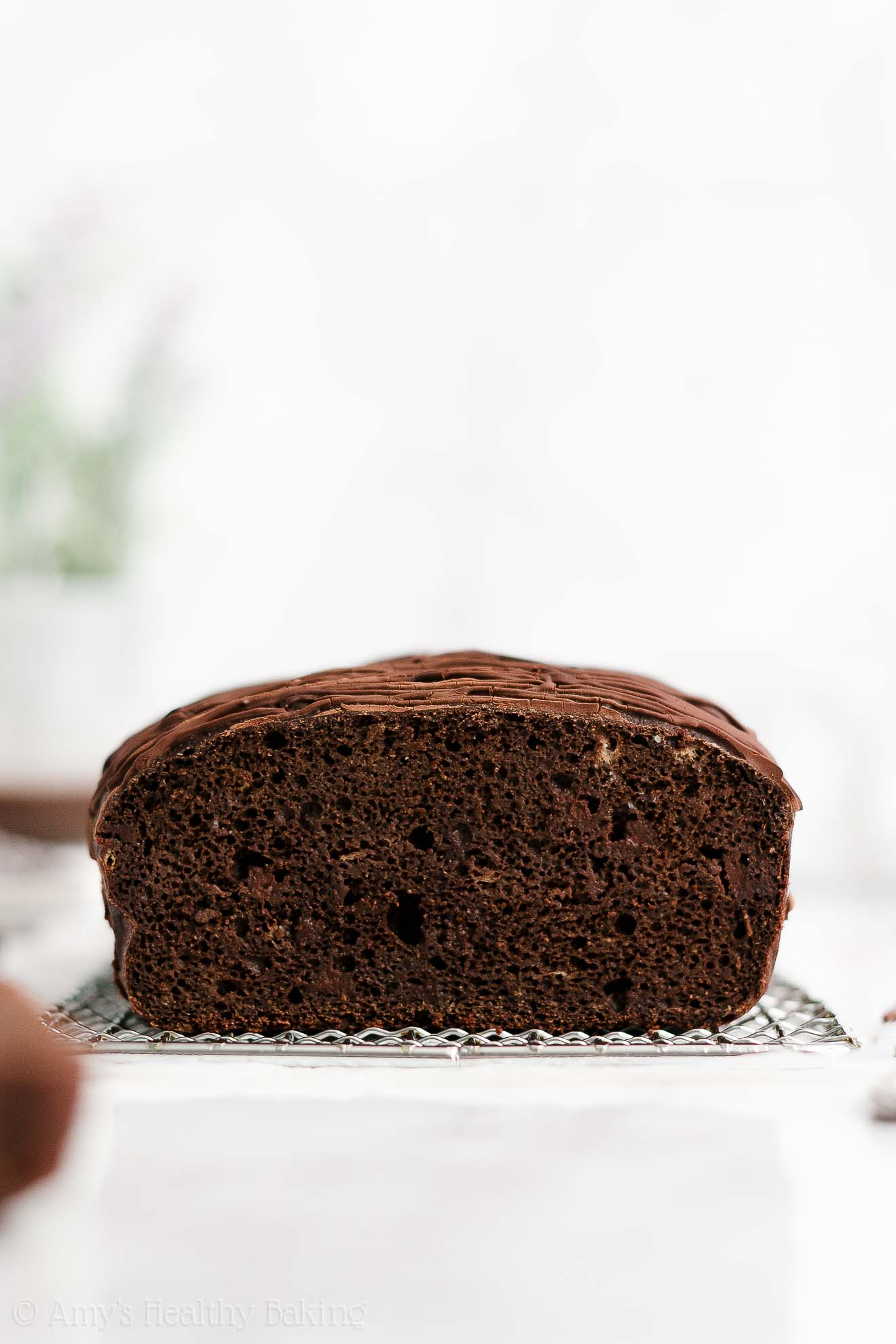 BEST EVER Healthy Sugar Free Whole Wheat Dark Chocolate Banana Bread