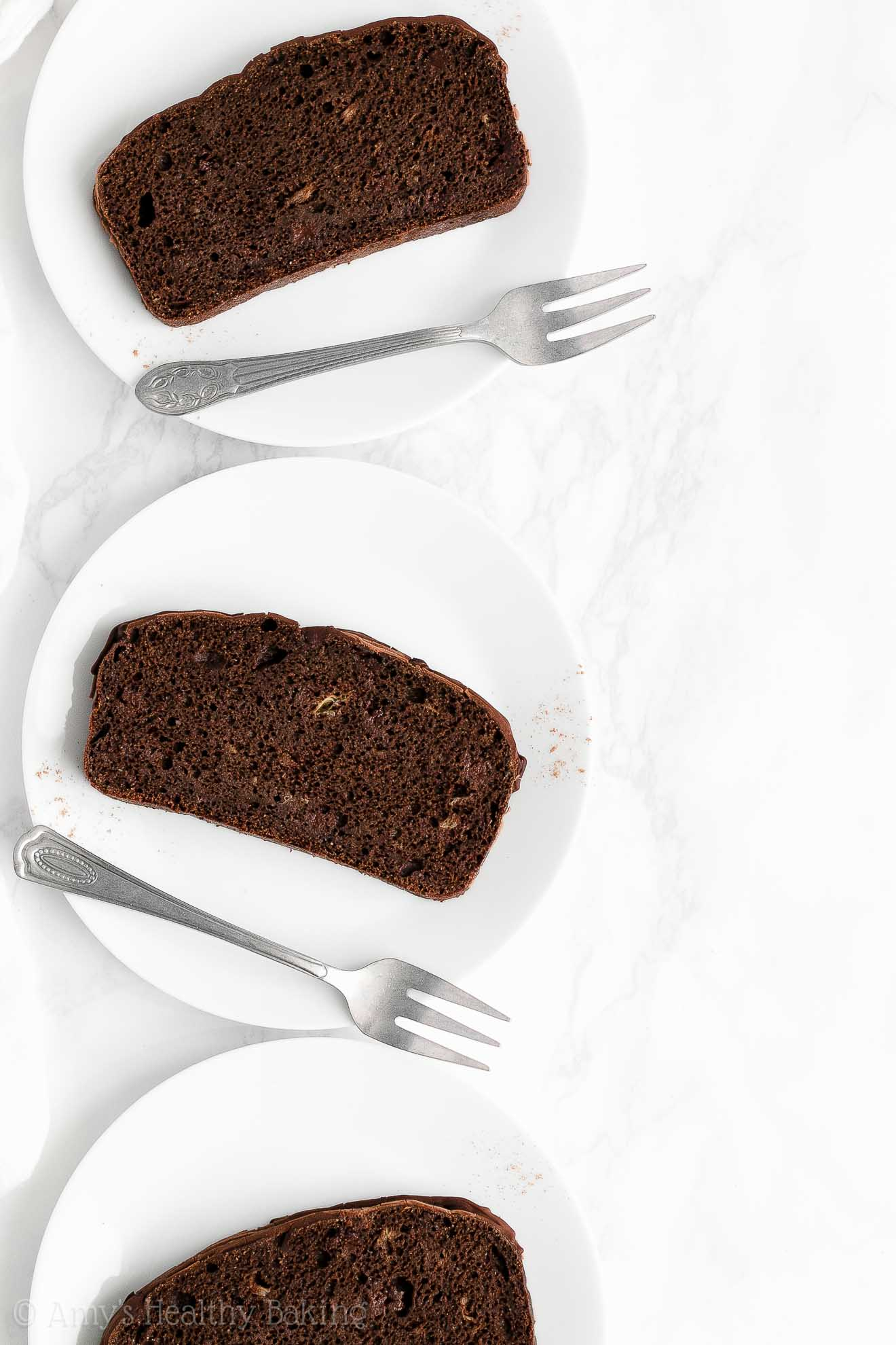 BEST EVER Easy Healthy Gluten Free Low Calorie Dark Chocolate Banana Bread