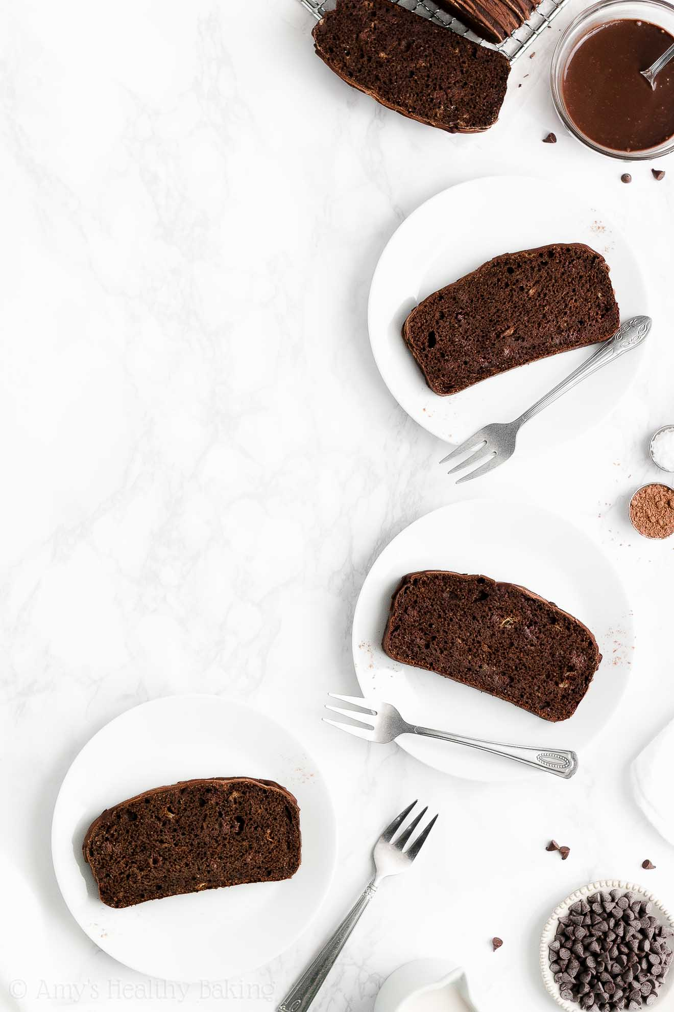 BEST EVER Easy Healthy Low Fat Low Calorie Homemade Chocolate Banana Bread