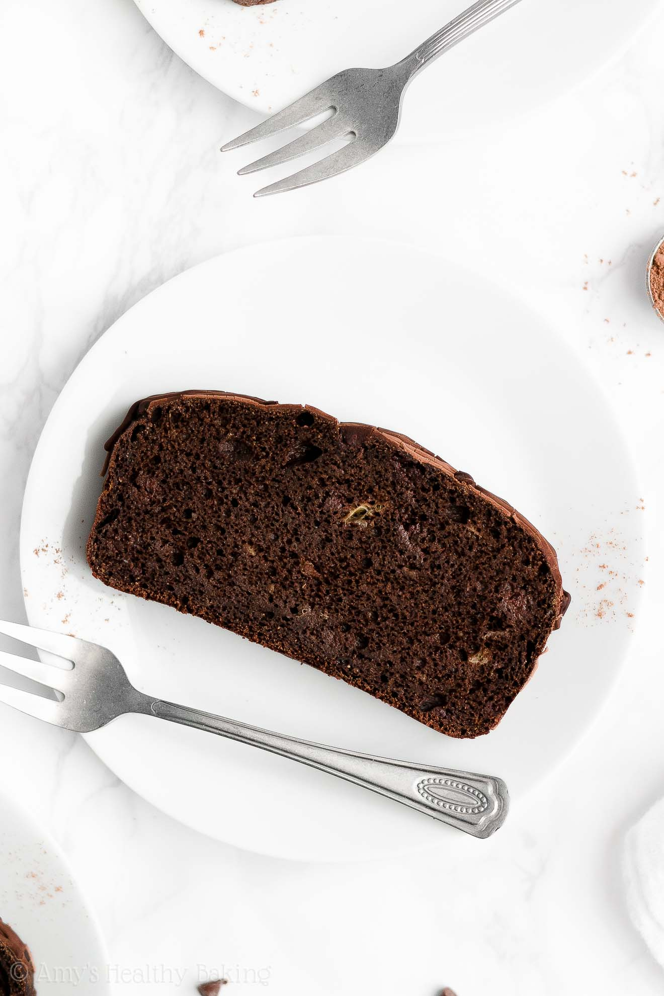 BEST EVER Healthy Clean Eating Moist Triple Chocolate Chocolate Banana Bread