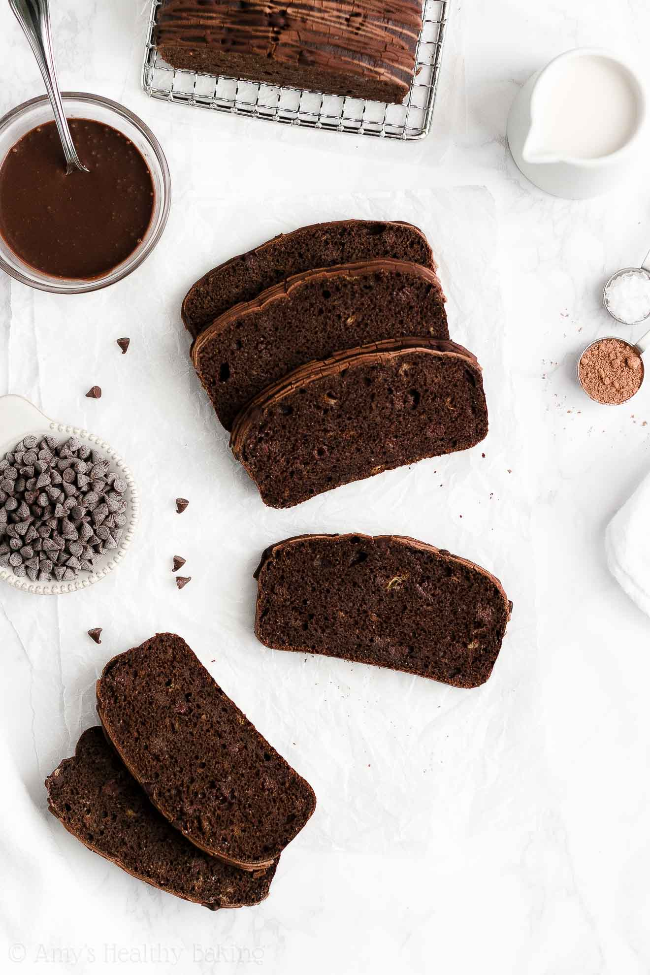 BEST EVER Easy Healthy Whole Wheat Sugar Free Moist Chocolate Banana Bread