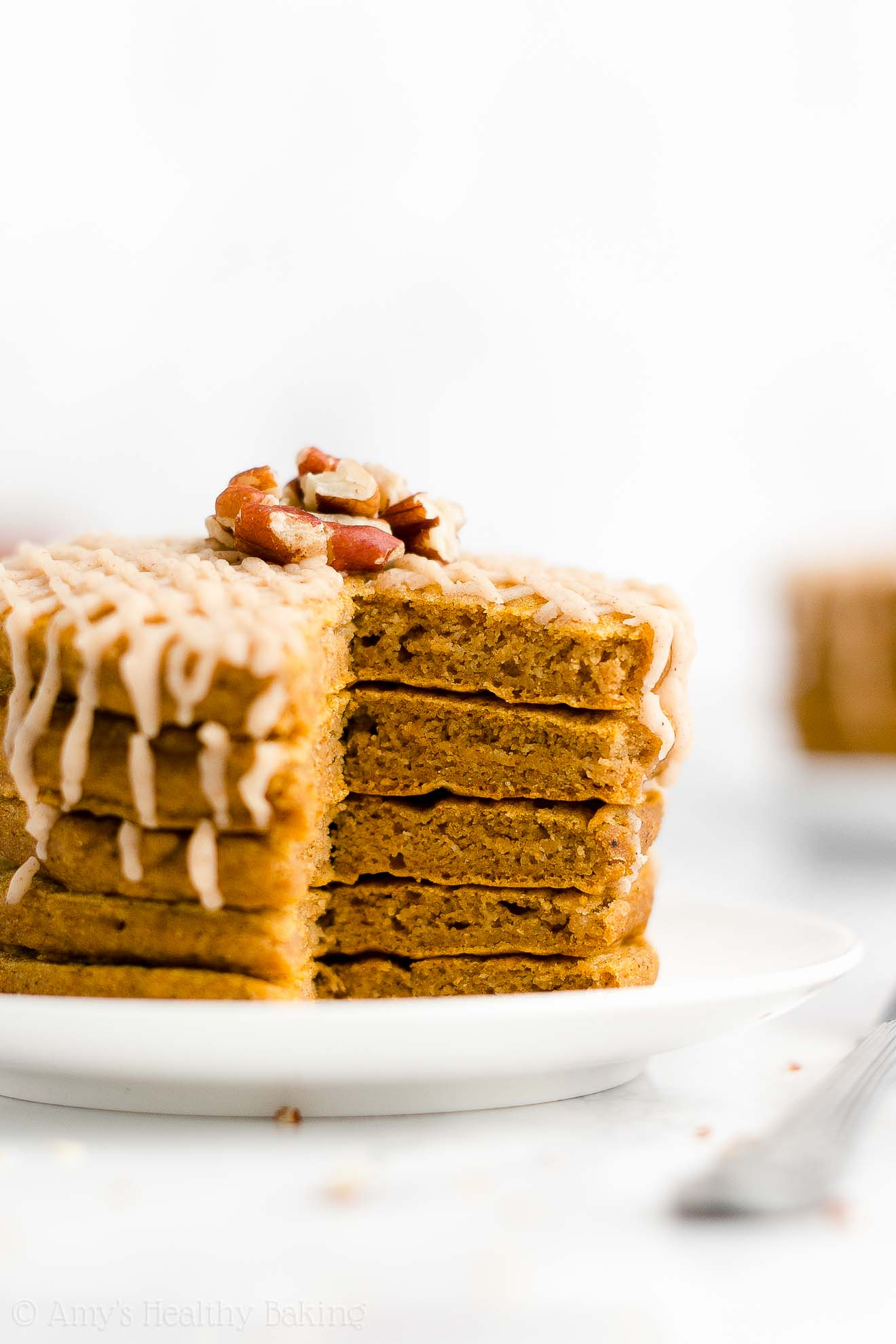 ULTIMATE Healthy Gluten Free Vegan Low Calorie Low Sugar Pumpkin Pancakes