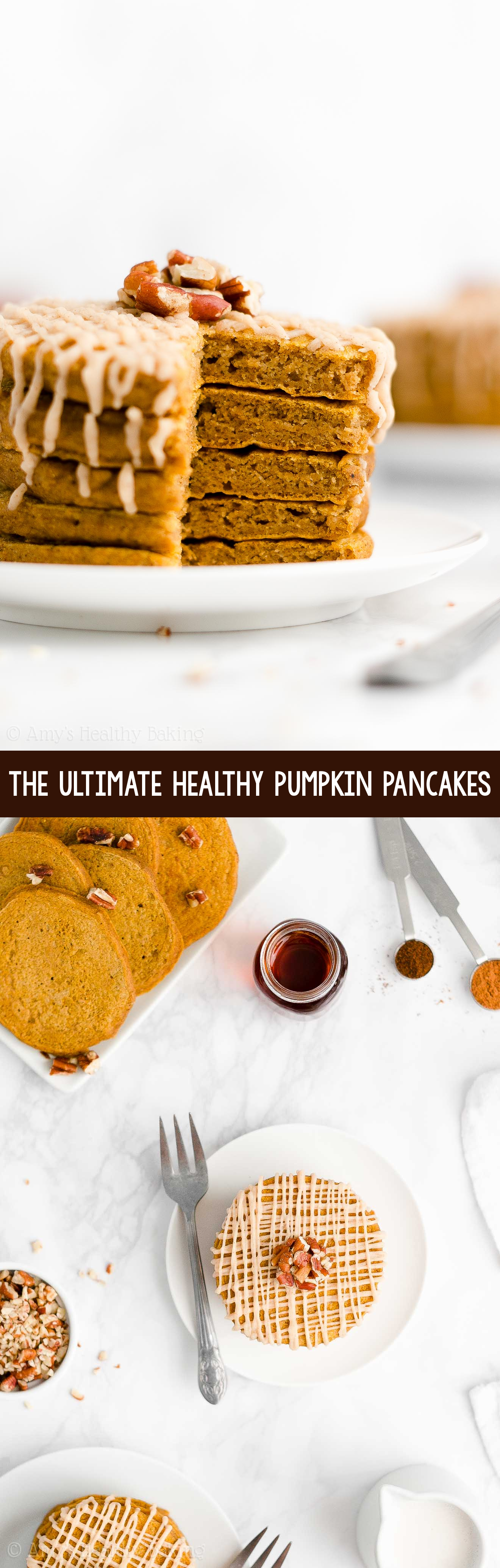 ULTIMATE Best Ever Easy Healthy Vegan Fluffy Pumpkin Pancakes Recipe From Scratch
