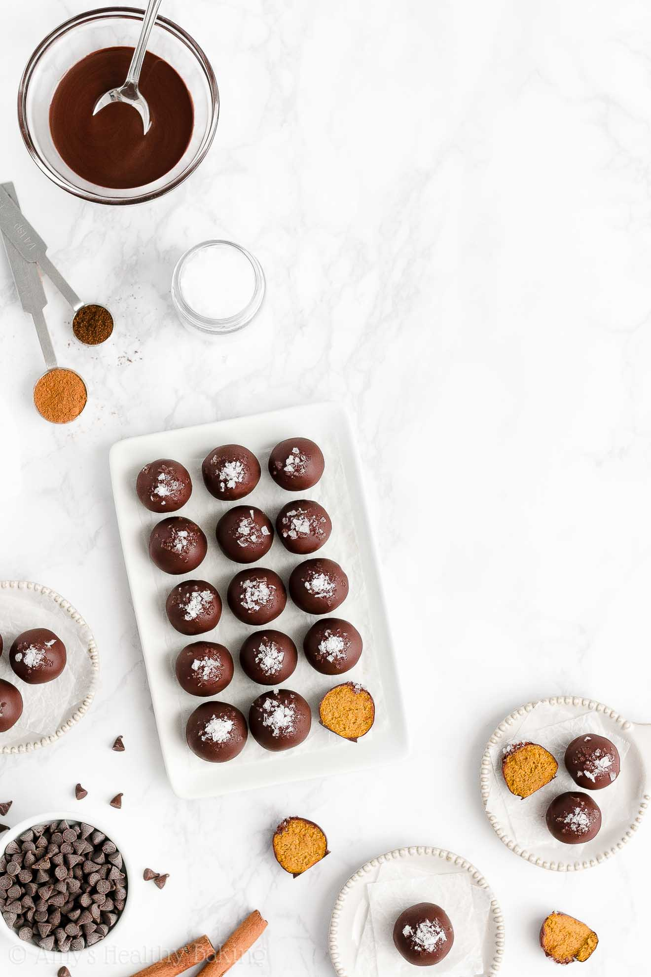 Best Easy Healthy Clean Eating Sugar Free Low Calorie Pumpkin Spice Truffles