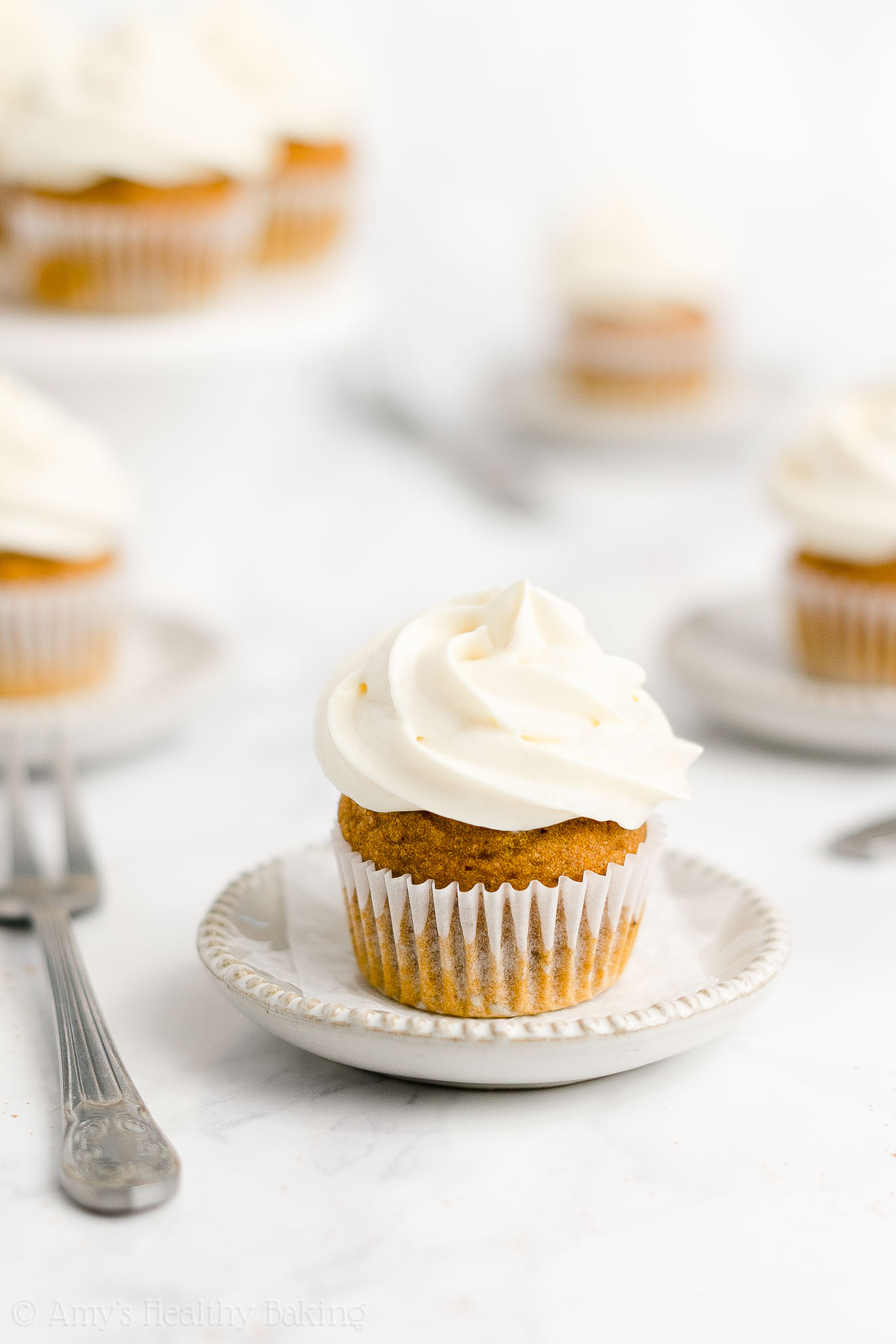 Best Easy Healthy Sugar Free Mini Pumpkin Cupcakes + Cream Cheese Frosting