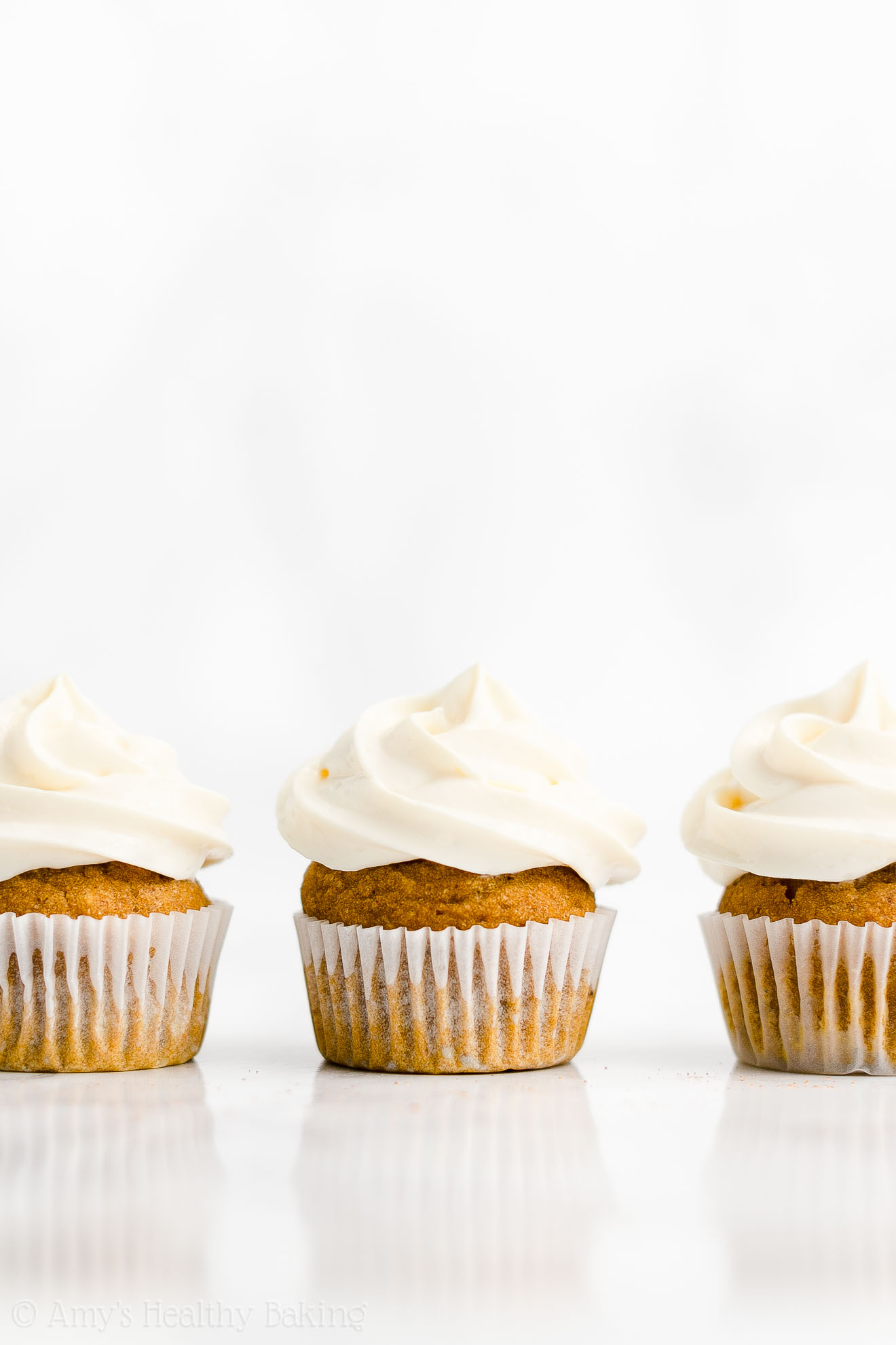 Best Healthy Low Sugar Moist Mini Pumpkin Cupcakes + Cream Cheese Frosting