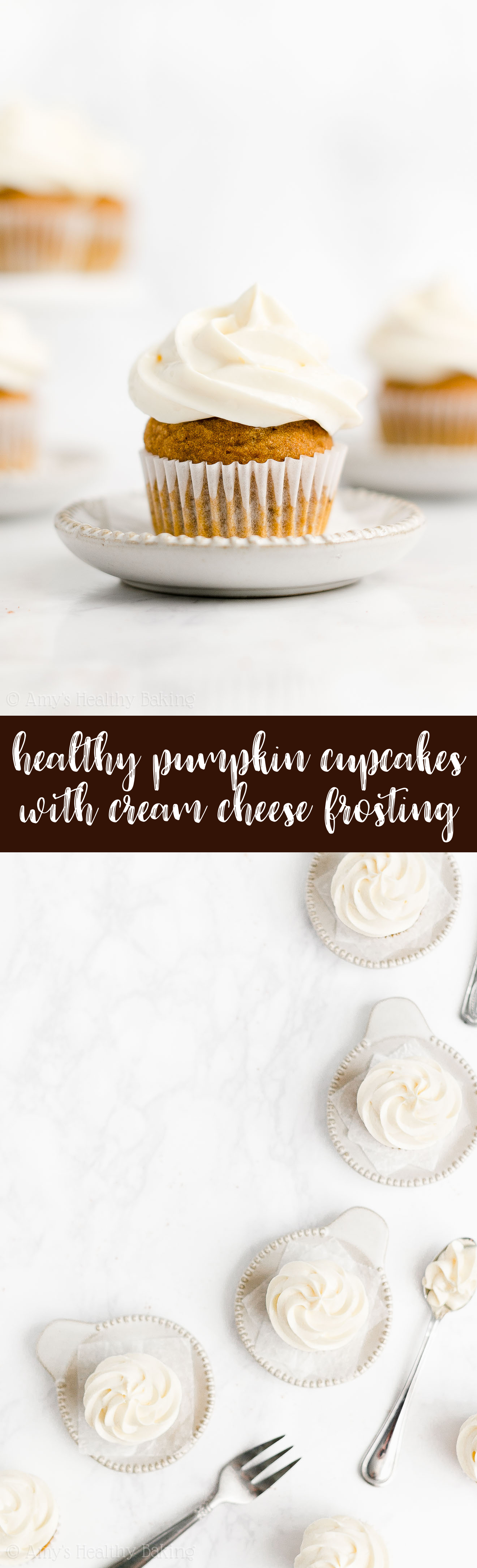 Best Ever Healthy Low Calorie Sugar Free Mini Pumpkin Cupcakes + Cream Cheese Frosting