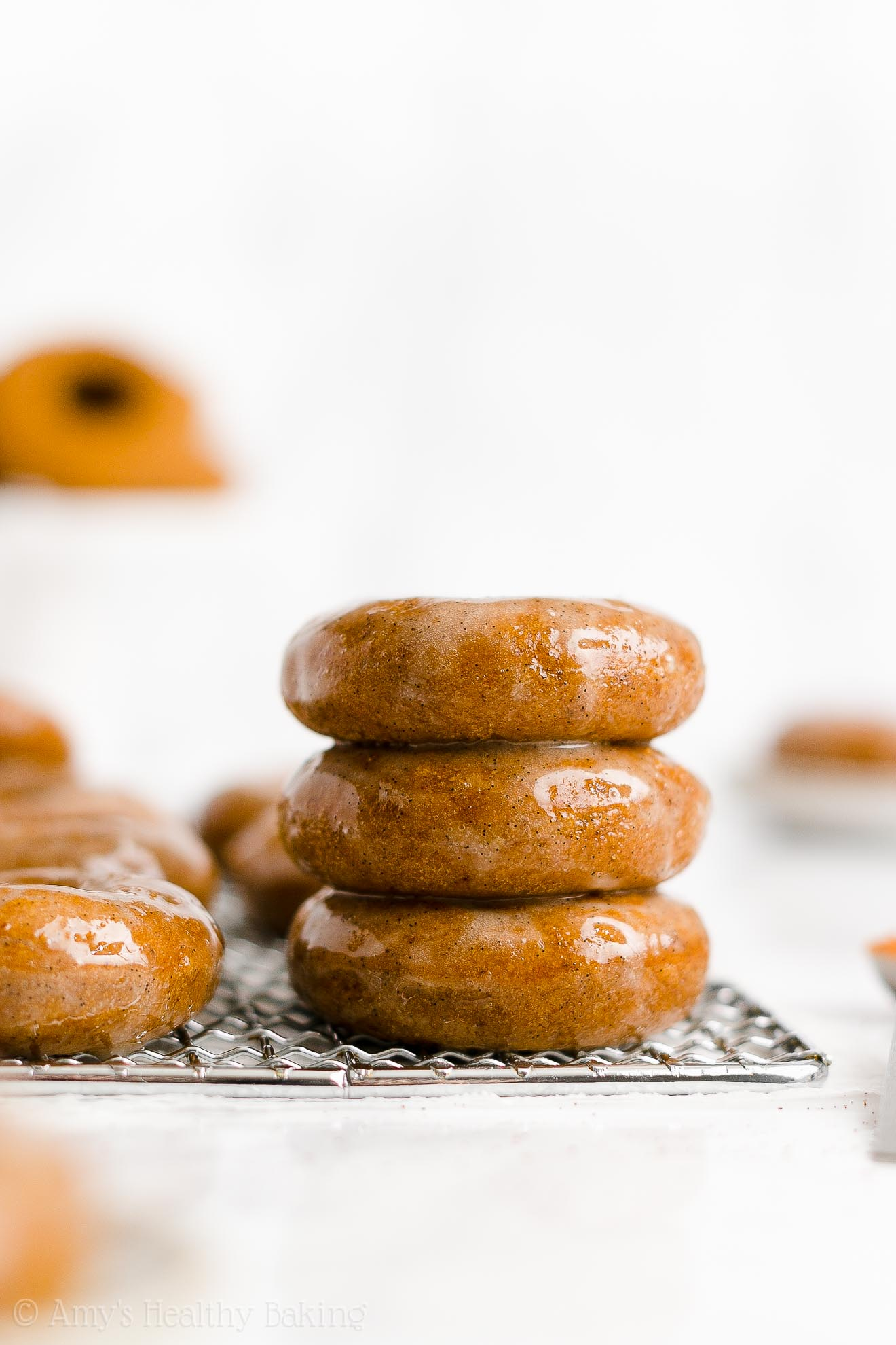BEST EVER Easy Healthy No Sugar Gluten Free Vegan Baked Pumpkin Donuts