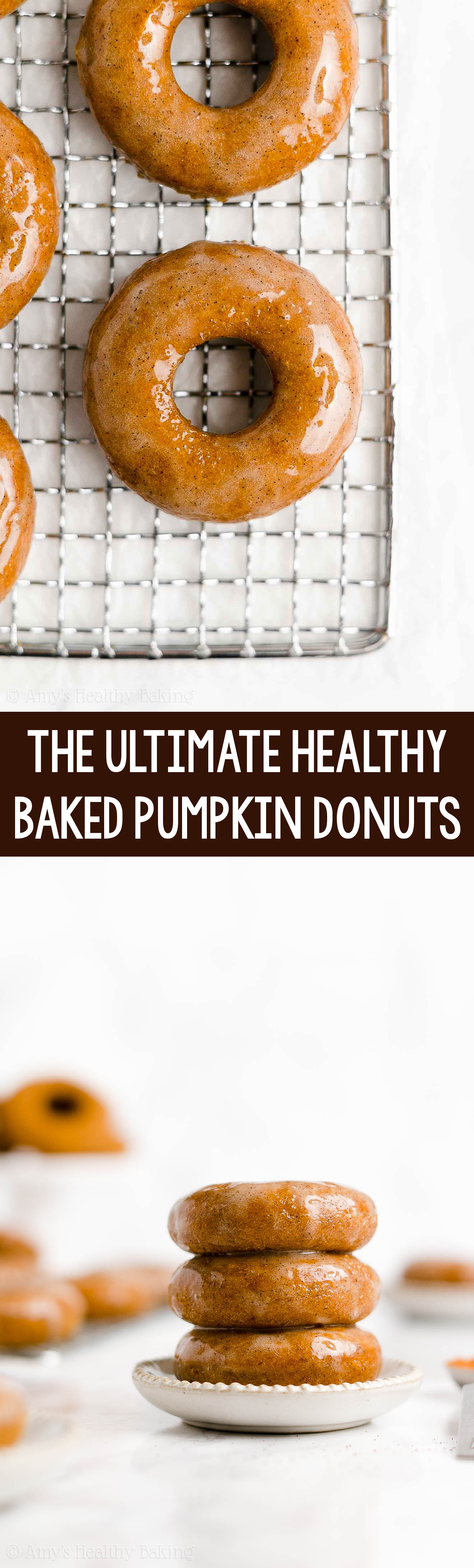 BEST EVER Easy Healthy Homemade Low Calorie Gluten Free Baked Pumpkin Donuts