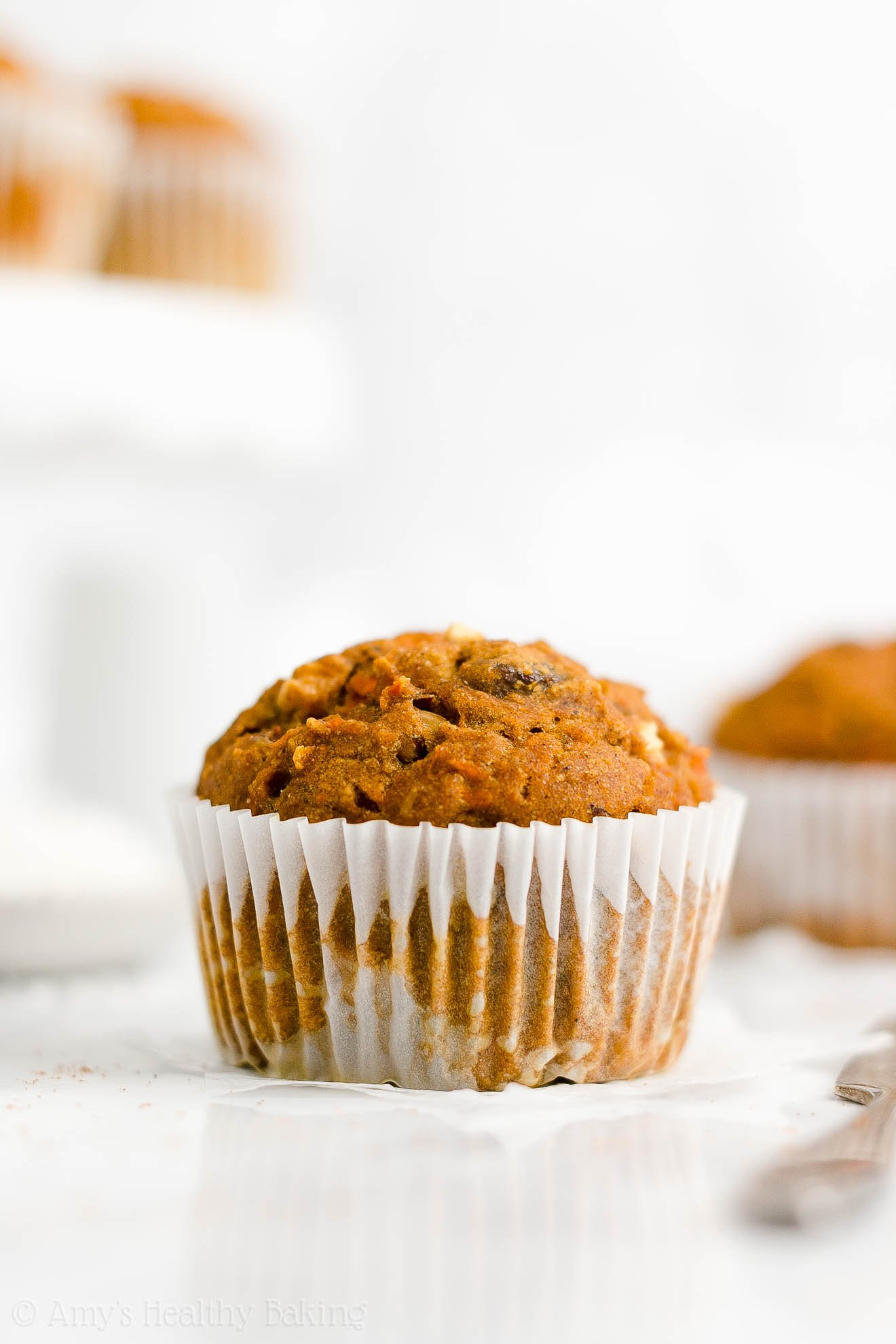 Easy Healthy Gluten Free No Sugar Low Calorie Pumpkin Morning Glory Muffins