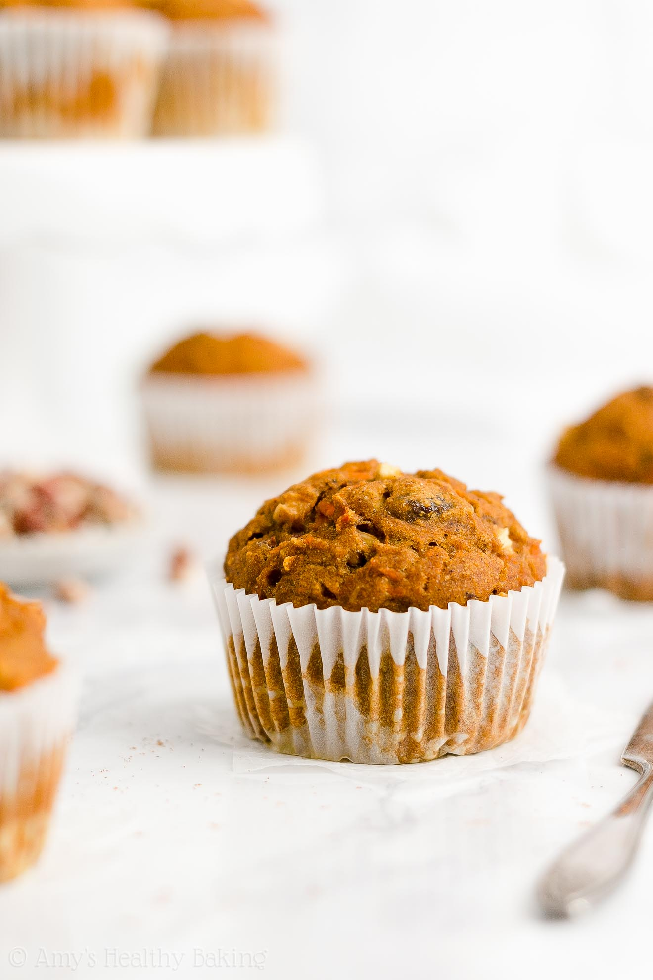 Best Easy Healthy Clean Eating Sugar Free Pumpkin Spice Morning Glory Muffins