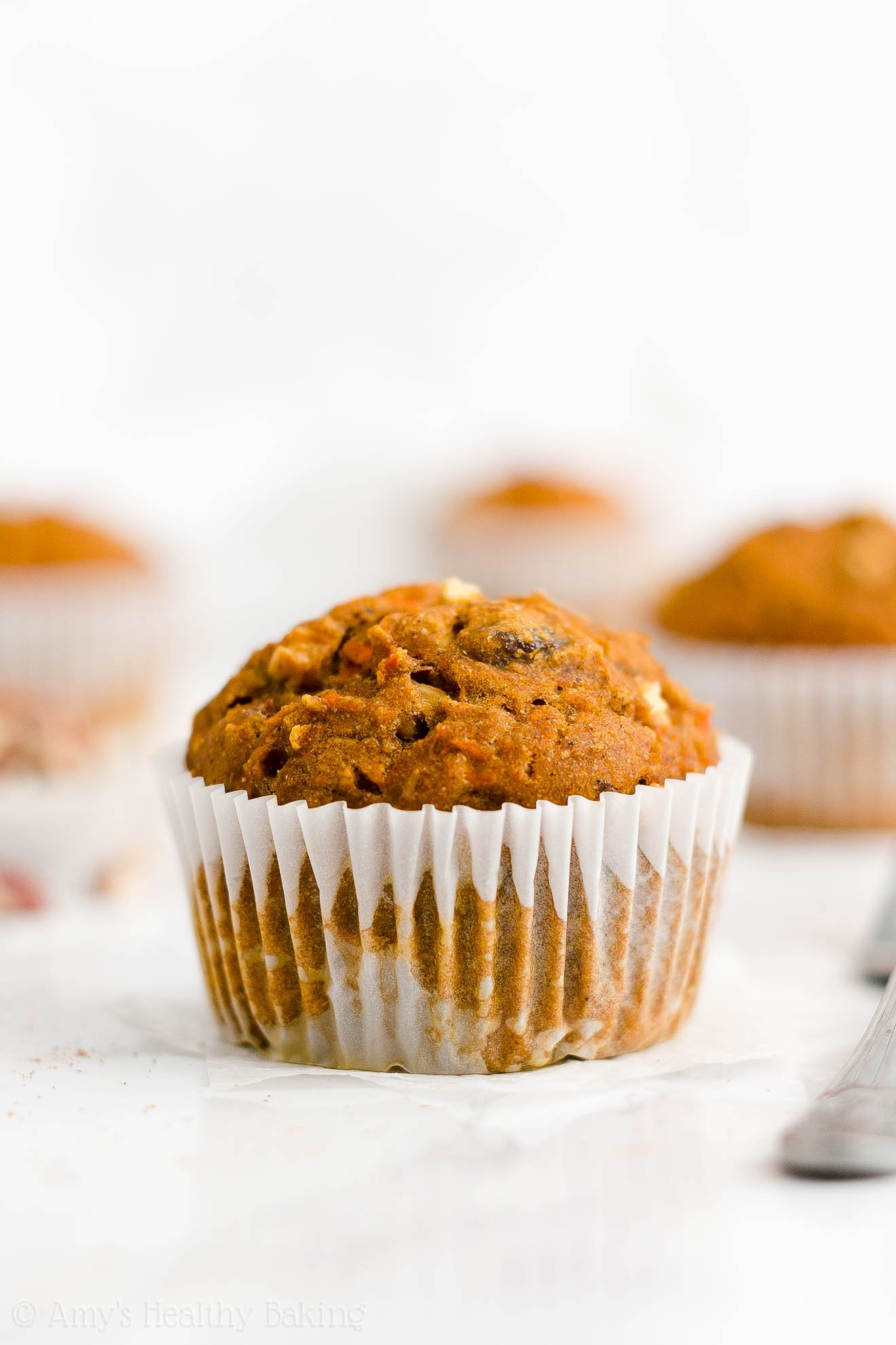 Best Easy Healthy Whole Wheat Sugar Free Moist Pumpkin Morning Glory Muffins