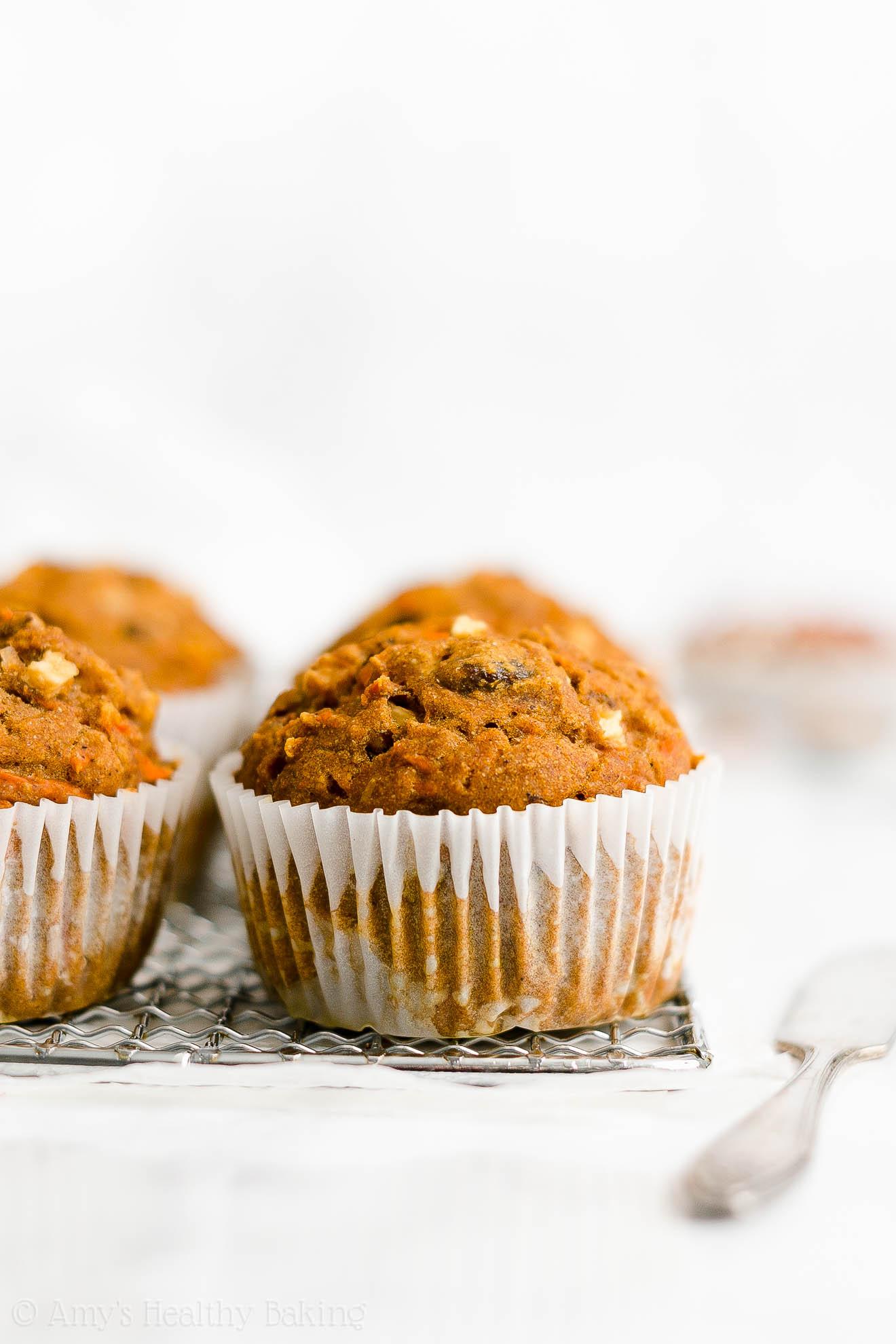 Best Easy Healthy Moist Low Sugar Greek Yogurt Pumpkin Morning Glory Muffins