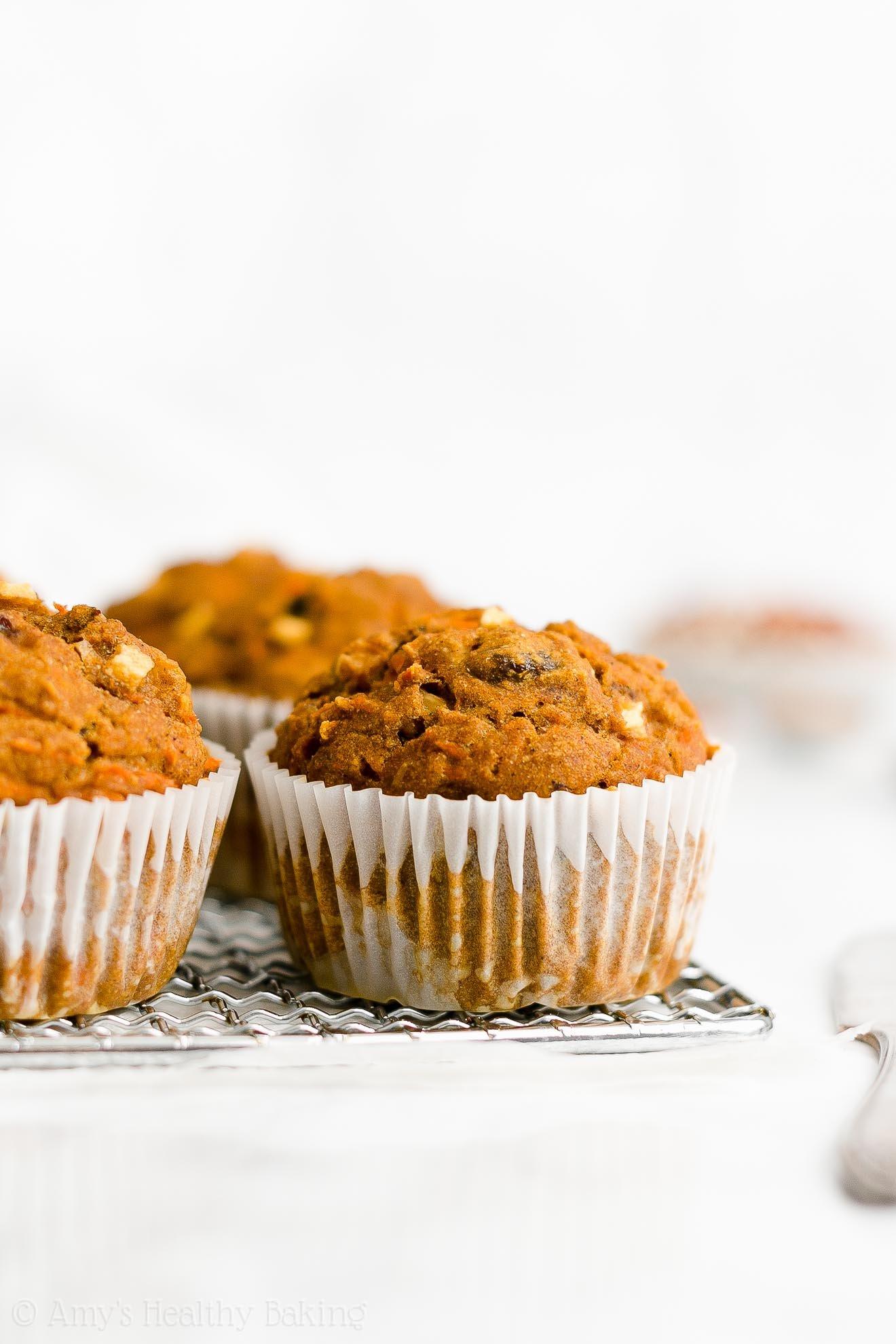Best Easy Healthy Gluten Free Sugar Free Moist Pumpkin Morning Glory Muffins