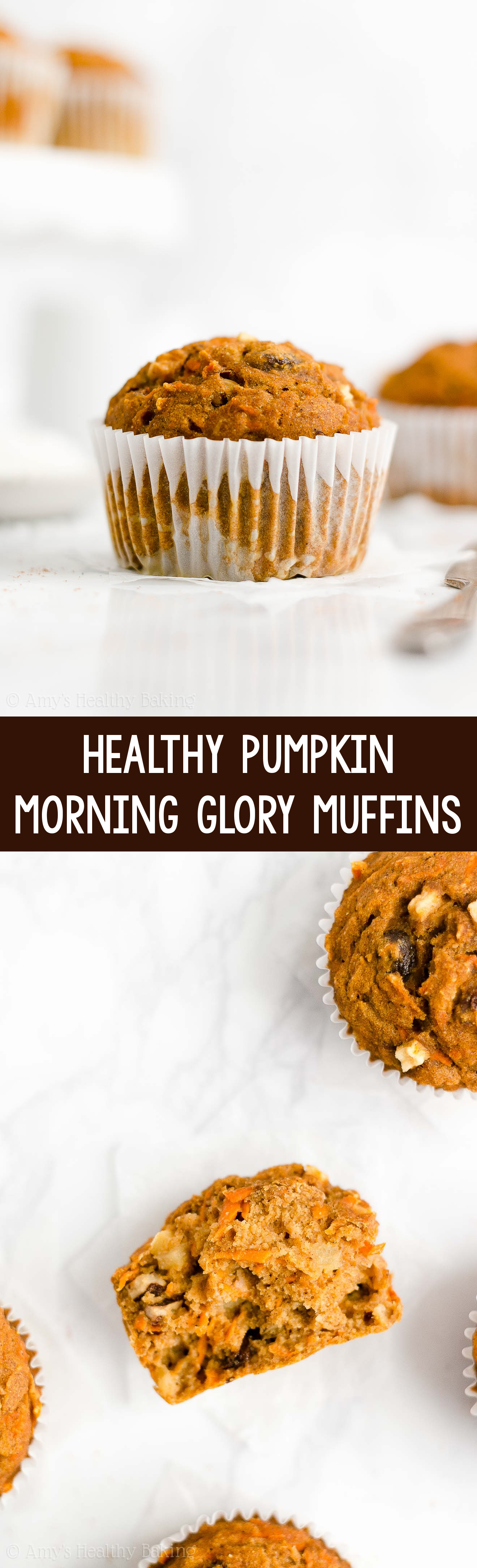 Best EVER Easy Healthy Low Calorie Gluten Free No Sugar Pumpkin Morning Glory Muffins