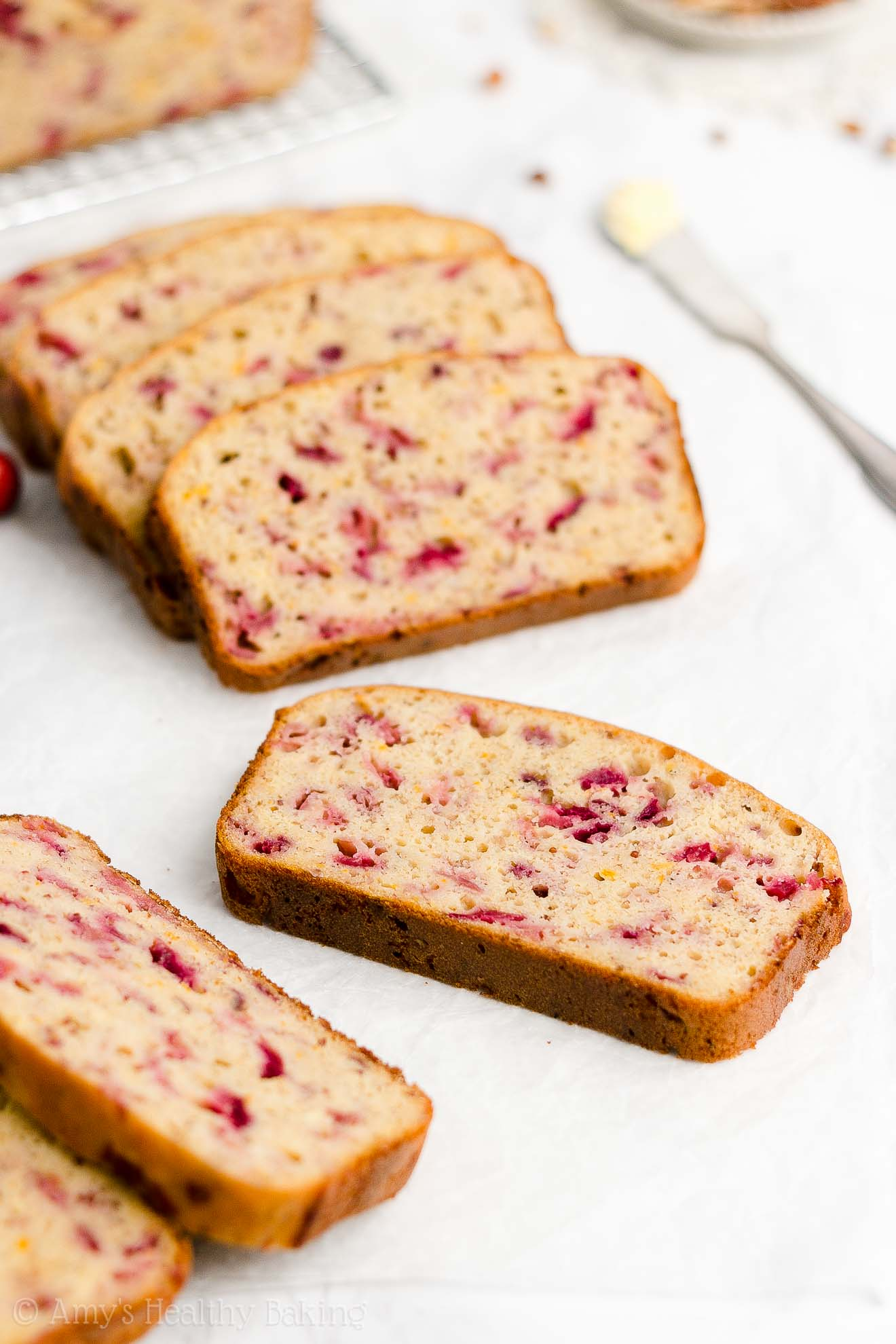 Best Easy Healthy Clean Eating Low Fat Moist Cranberry Orange Banana Bread
