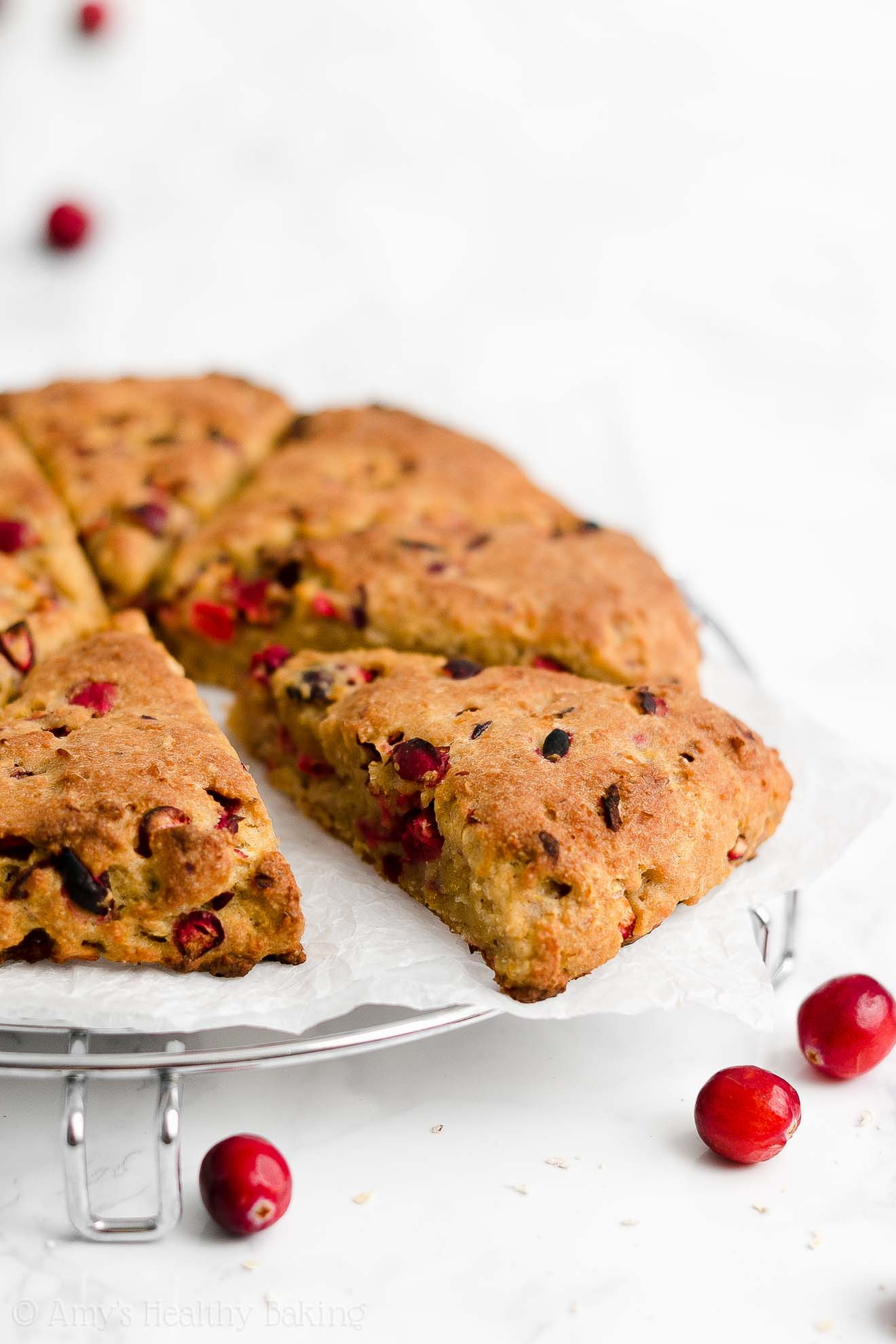 Easy Healthy Moist Fresh Cranberry Orange Oatmeal Scones Without Heavy Cream