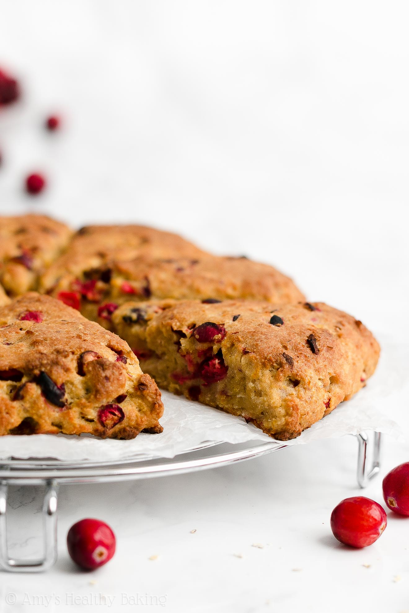 Best Healthy Whole Wheat Low Fat Greek Yogurt Cranberry Orange Oatmeal Scones