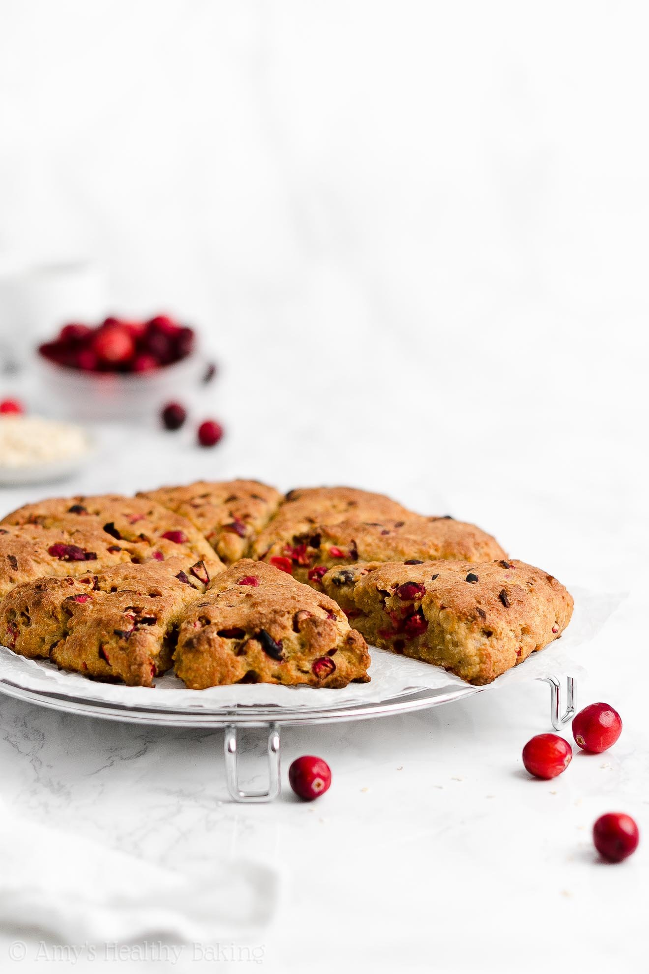 Easy Healthy Clean Eating Weight Watchers Cranberry Orange Oatmeal Scones