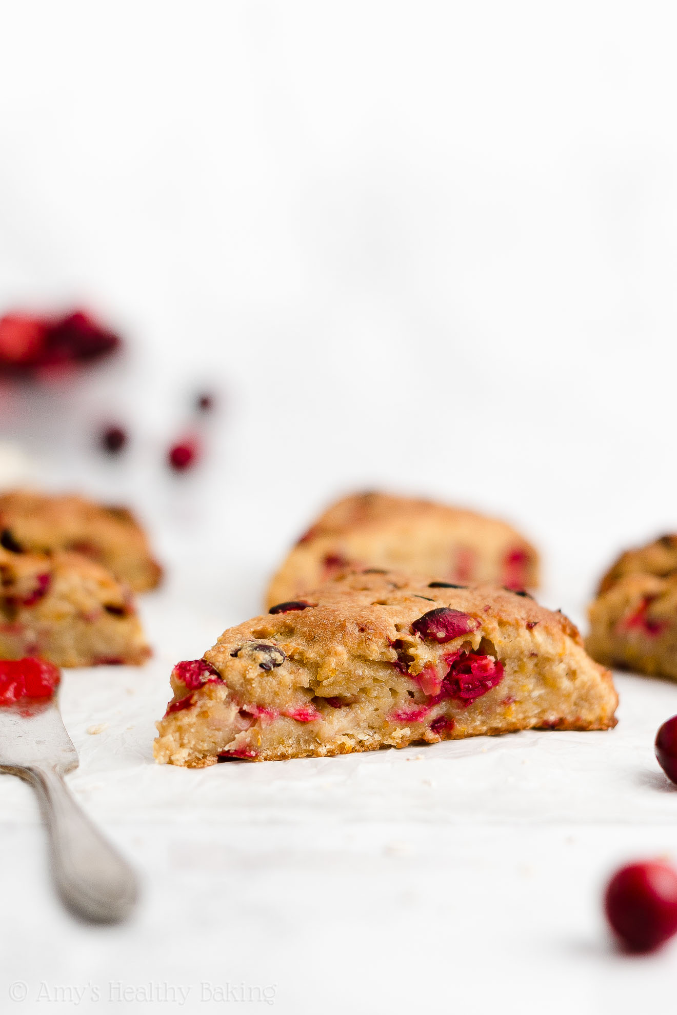 Easy Healthy Moist Gluten Free Fresh Cranberry Orange Oatmeal Scones