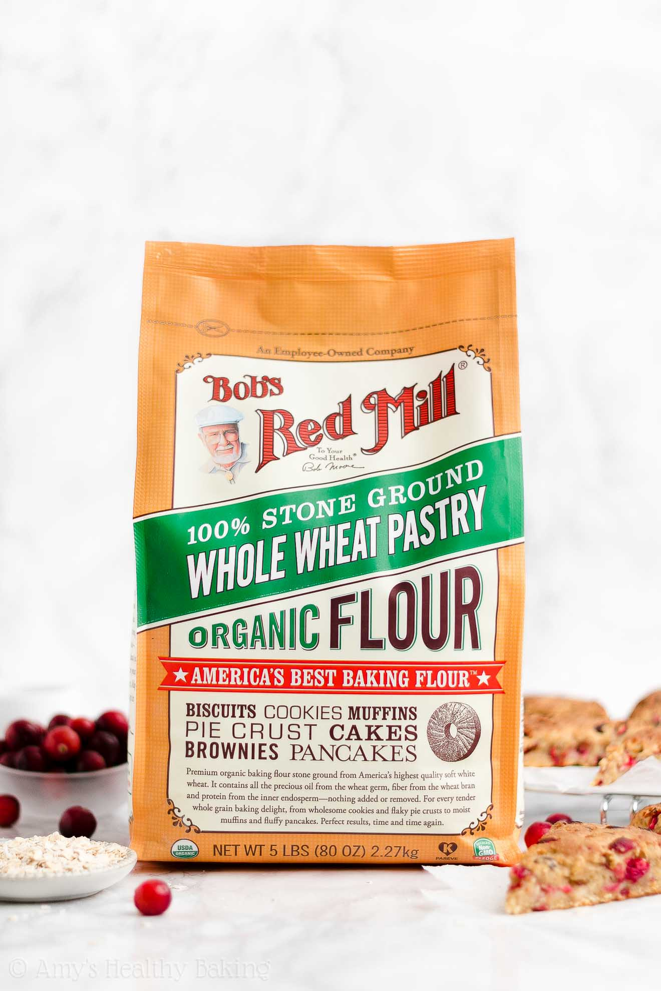 5-Pound Bag of Bob's Red Mill Organic Quick Whole Wheat Pastry Flour