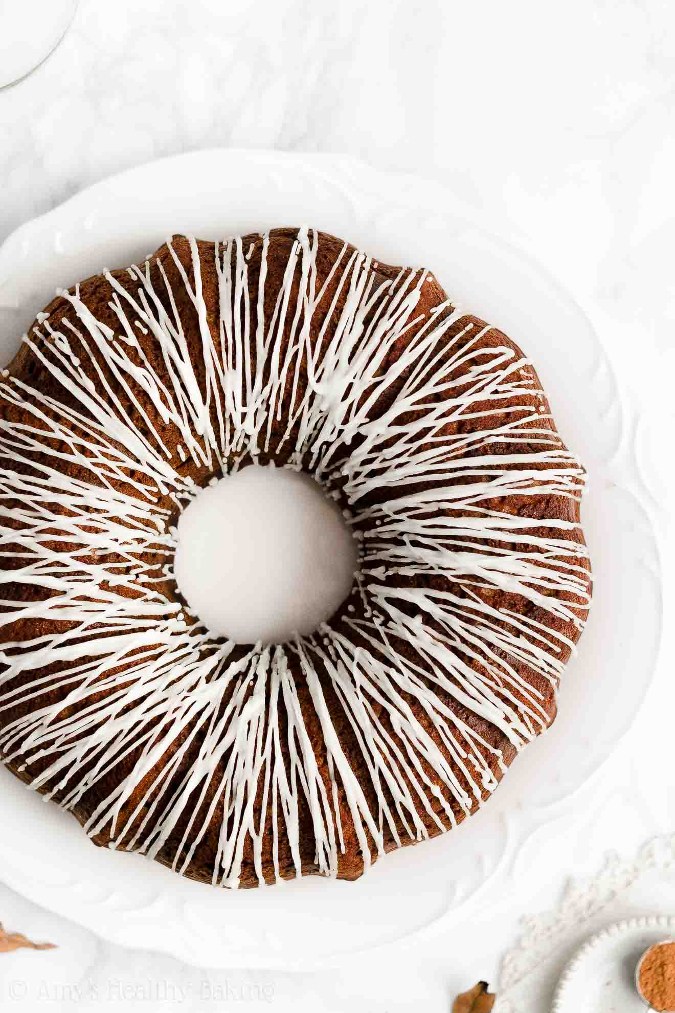 Ultimate Healthy Weight Watchers Gingerbread Bundt Cake with Glaze