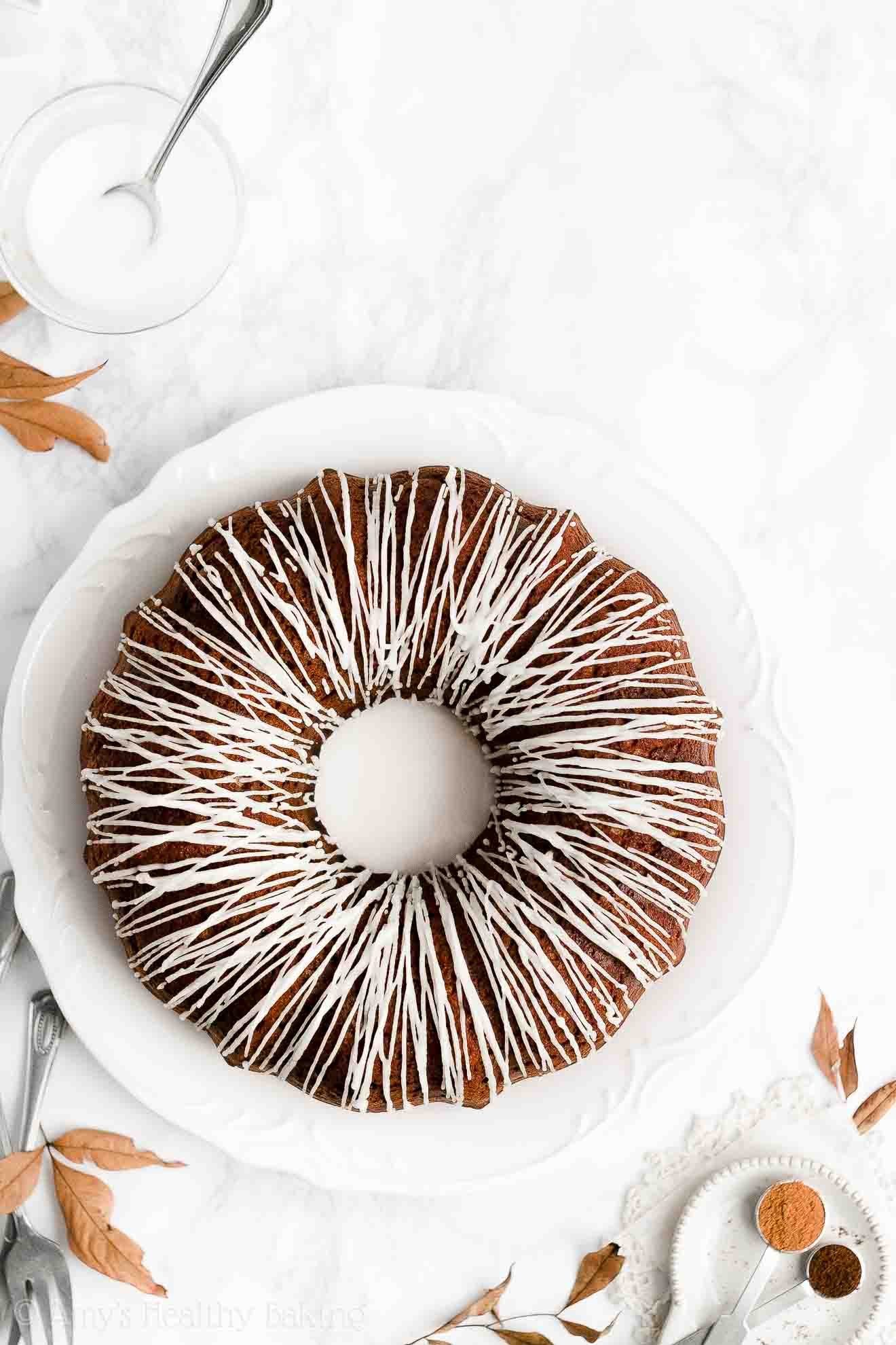 BEST EVER Easy Healthy Low Fat Low Sugar Moist Gingerbread Bundt Cake