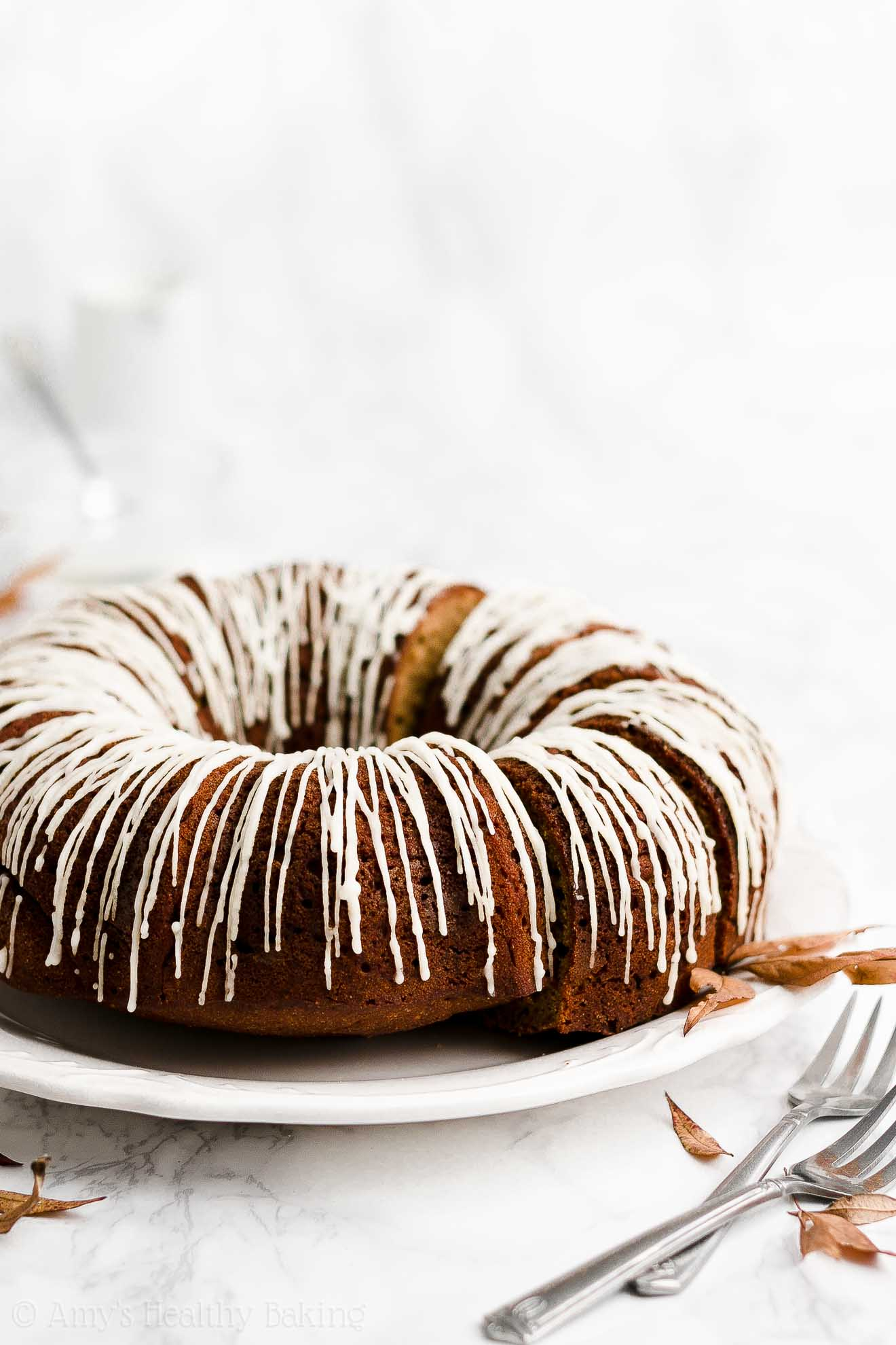 BEST EVER Easy Healthy Clean Eating Whole Wheat Gingerbread Bundt Cake