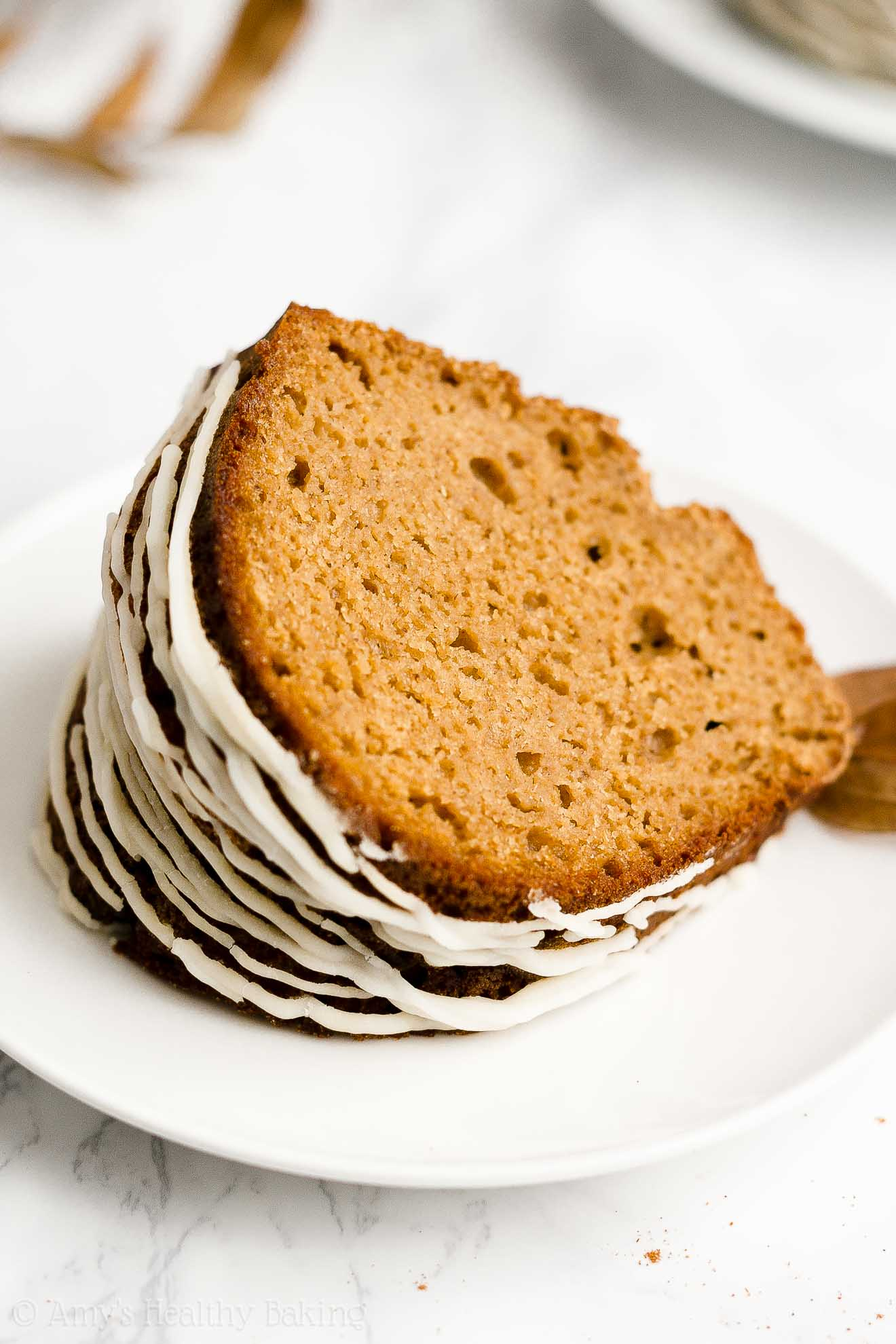 BEST Easy Healthy Clean Eating Greek Yogurt Moist Gingerbread Bundt Cake