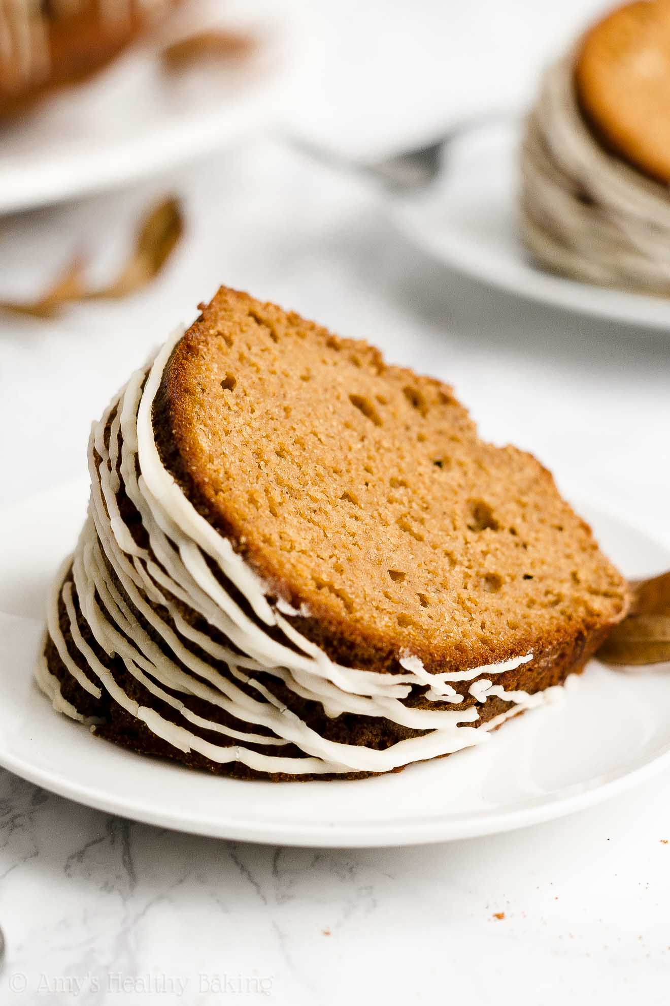 Ultimate Healthy Low Fat Sugar Free Greek Yogurt Gingerbread Bundt Cake