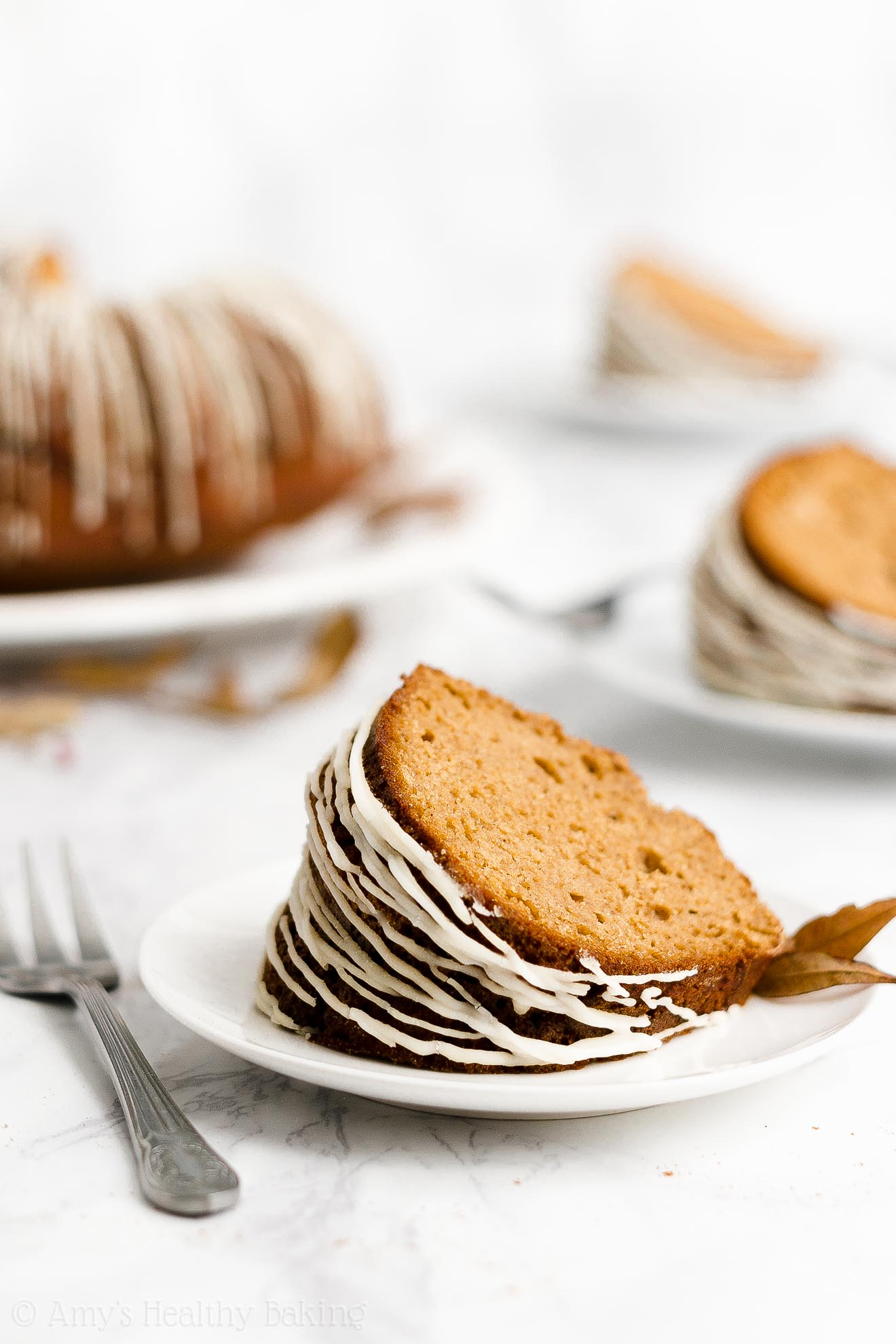 Ultimate Healthy Clean Eating Classic Molasses Gingerbread Bundt Cake with Glaze