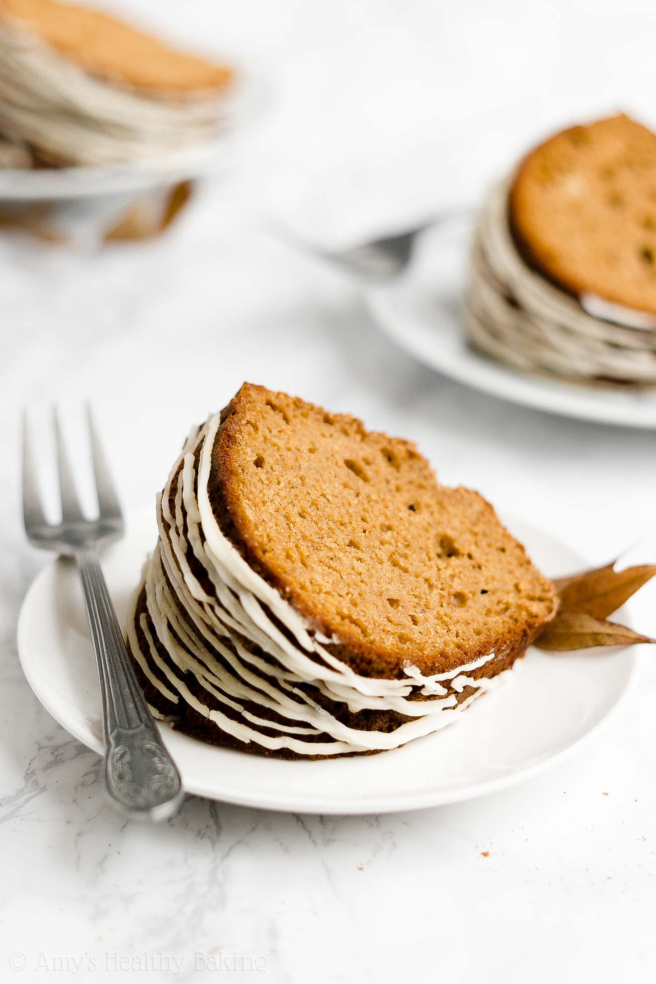 BEST Ever Easy Healthy Gluten Free Classic Gingerbread Bundt Cake with Glaze