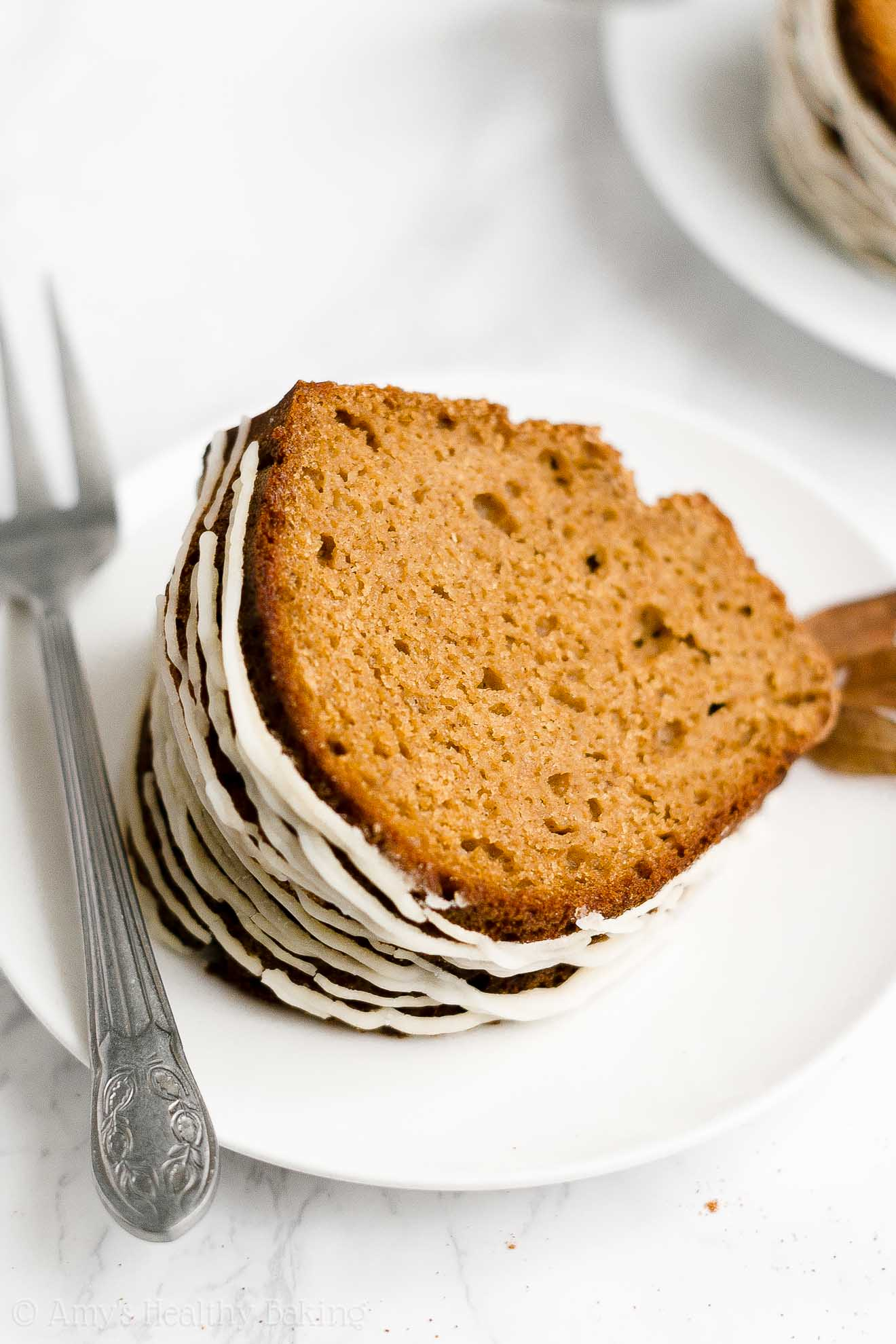 Best Easy Healthy Low Fat Whole Wheat Moist Gingerbread Bundt Cake with Glaze